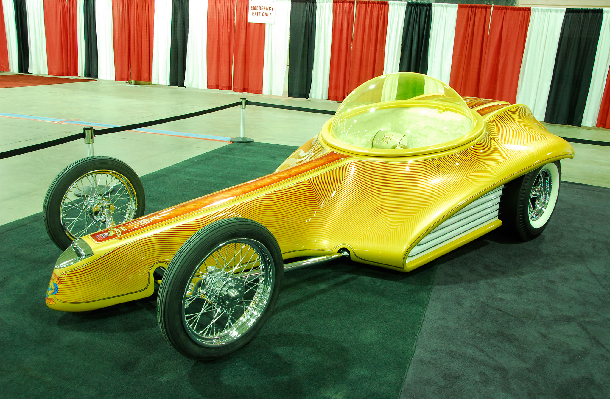 The Baja Bandeeto was the latest bubbletop from Fritz Schenck, featuring a custom-made fiberglass body over a handmade chassis and a dazzling one-off paint scheme.