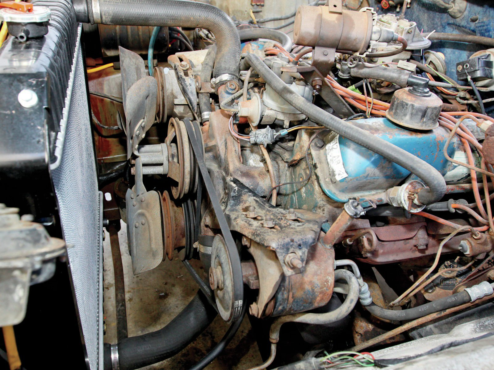 4. It's not revealed in the header installation instructions. All header installs begin by figuring out if the headers install from the top of the engine or from the bottom. The 360/390-inch Fords install from the bottom.