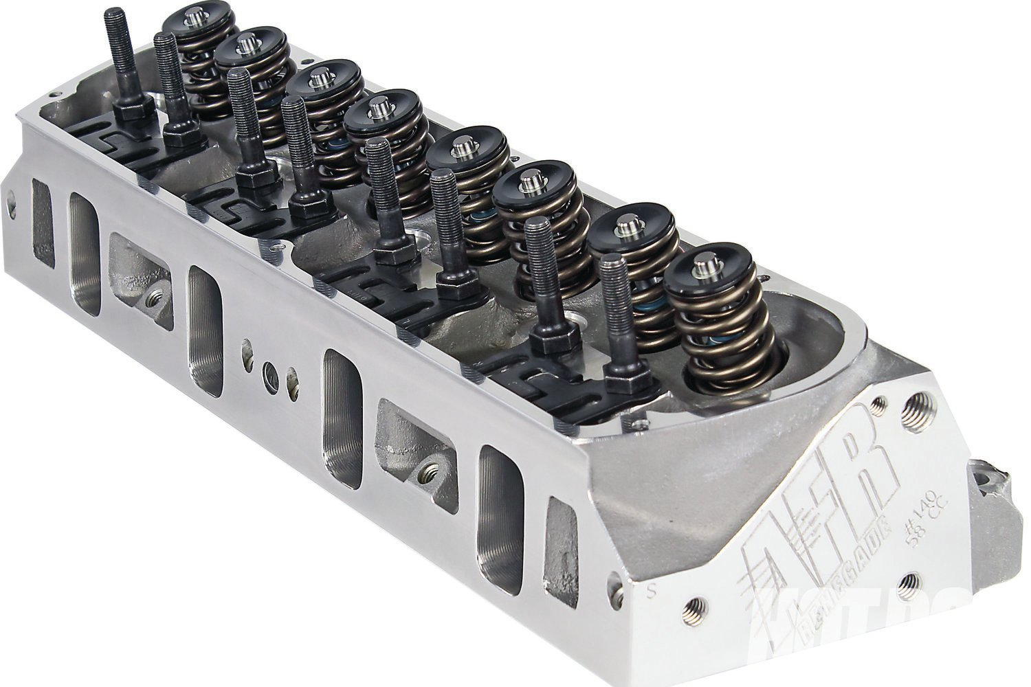 A ground-up redesign, AFR's new 185cc intake-runner Renegade 20° small-block Ford heads come with lightweight 8mm 2.02-intake/1.600-inch exhaust valves, 58 or 72cc chambers, and 70cc exhaust ports. Recommended usage is on 302–367ci engines operating from 1,500-6,500 rpm. Fully California emissions-legal versions are also available, for those who care.