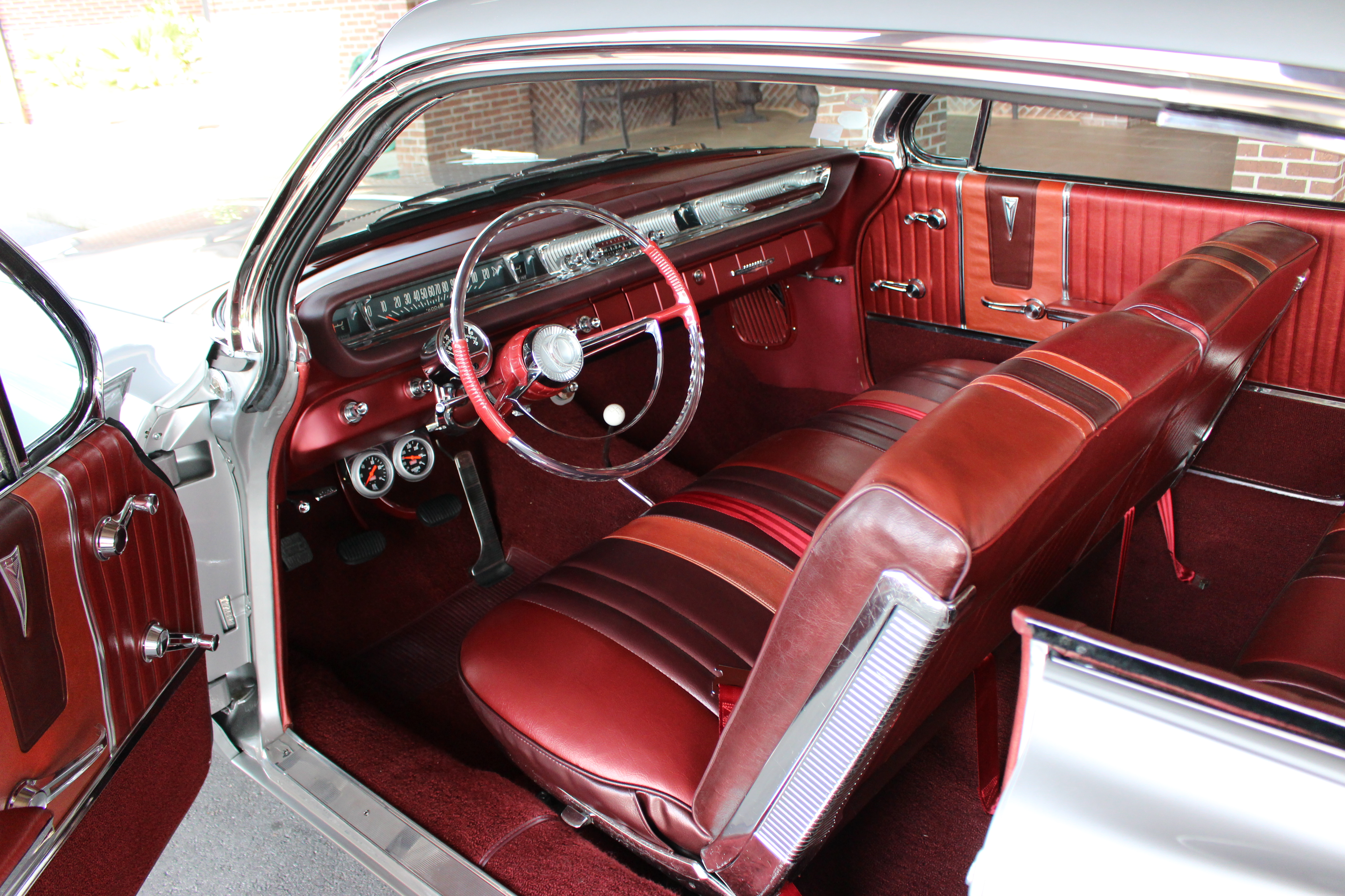 The original interior cleaned up so well, that only the carpet and steering wheel were replaced.