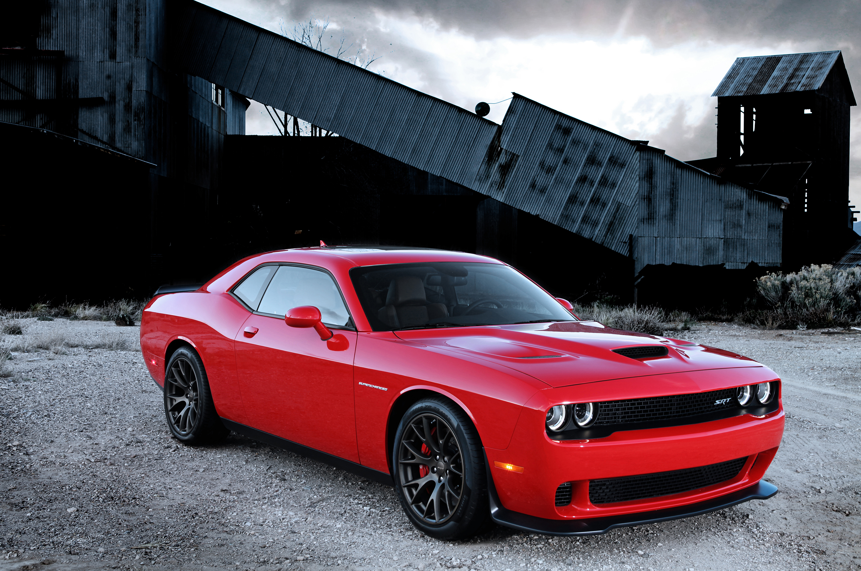 The SRT Challenger gets a new hood in Hellcat trim.