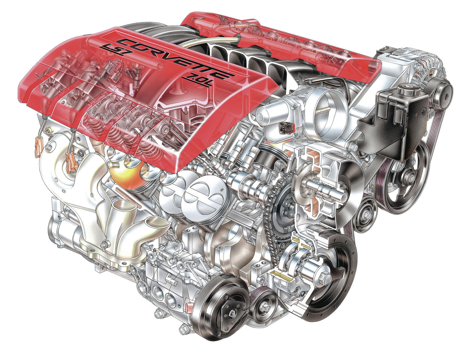 How To Identify All Those Different Late Model Gm V8 Engines Hot 2009 Silverado With Afm Engine Diagram 13 The 427ci 70l Ls7 Is Distinctive For Several Reasons Its Cylinder Heads Feature A Unique Intake Bolt Pattern And While Rocker Arms Are