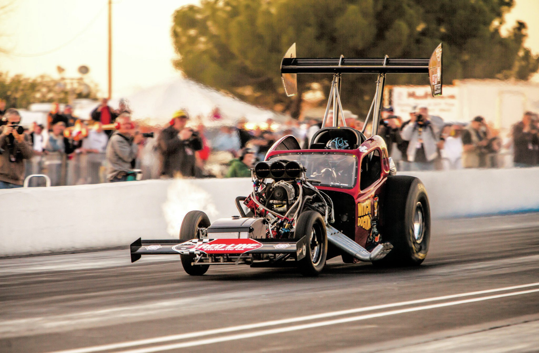 One of the meanest machines in the circuit is Witch Doctor, piloted by Keith Wilson.