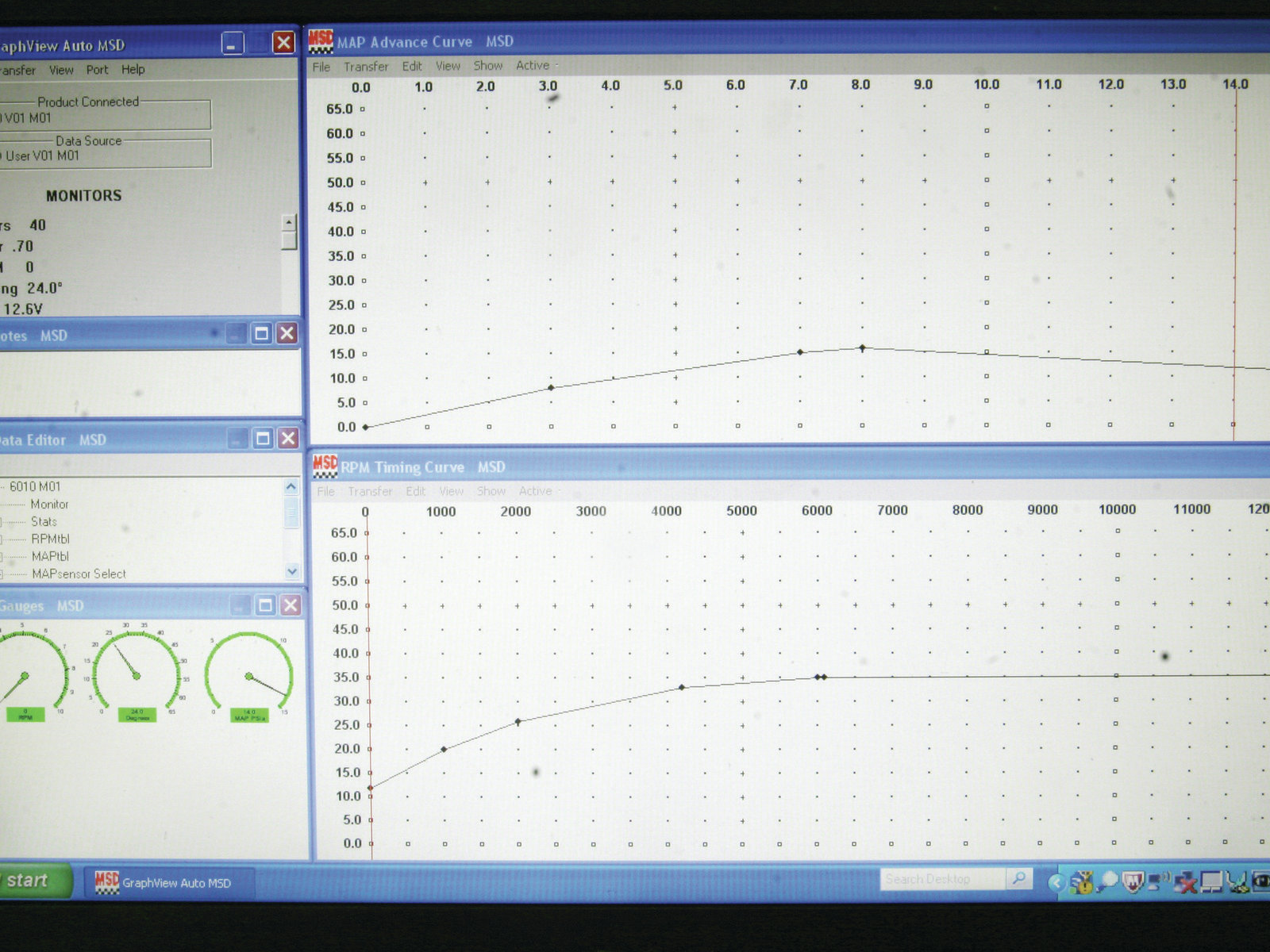 Budget Chevelle Ls Engine Swap Hot Rod Network Msd Wiring Diagram Pn 6010 This Is A Screen Shot Of The Pro Data Software That Runs 6ls Box Top Curve Vacuum Advance Using Map Sensor While Bottom