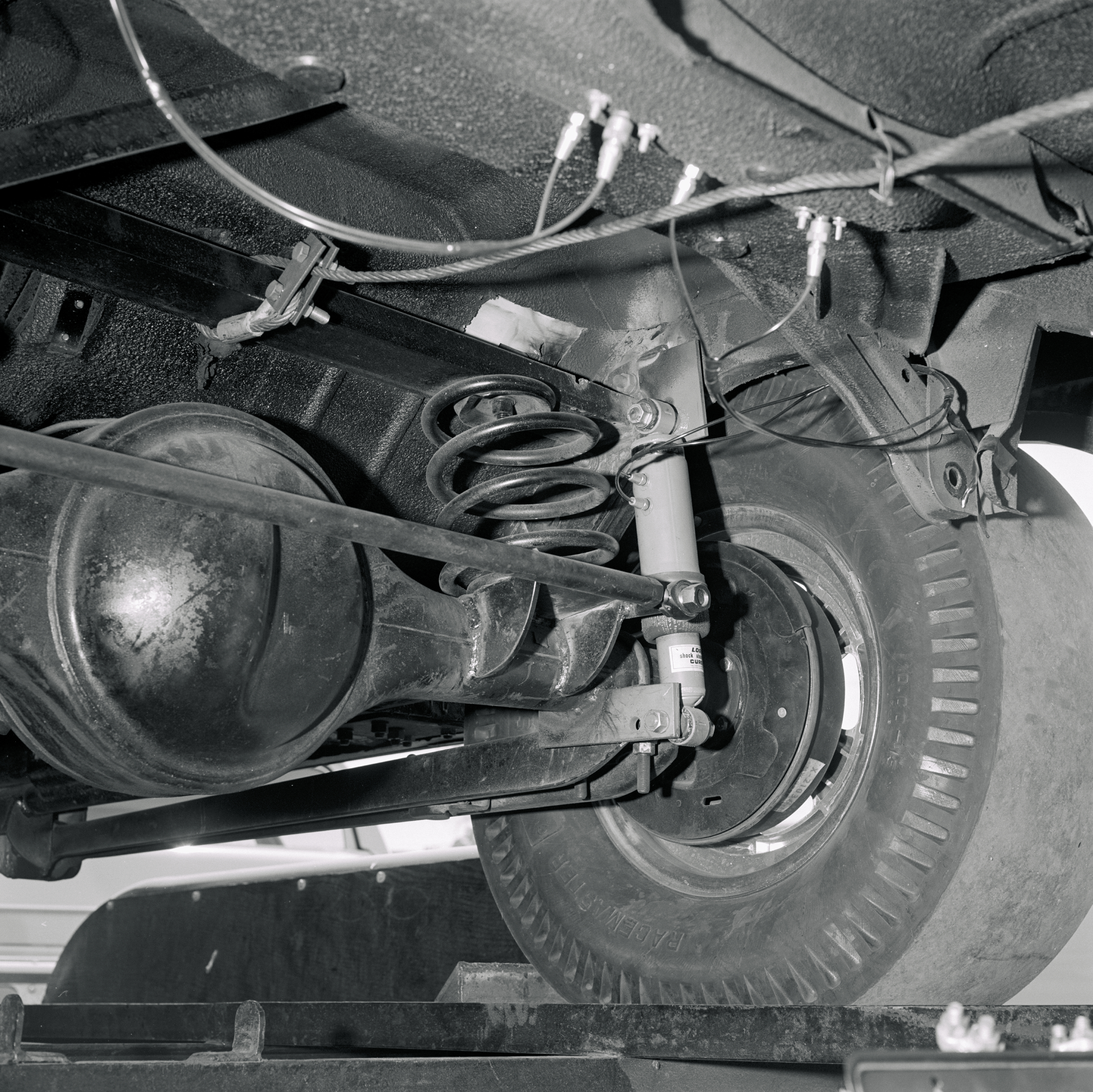 Everything was shifted forward 11-inches to accommodate the '57 Pontiac rear end. Folks, this is how racecars were done and detailed in the day.