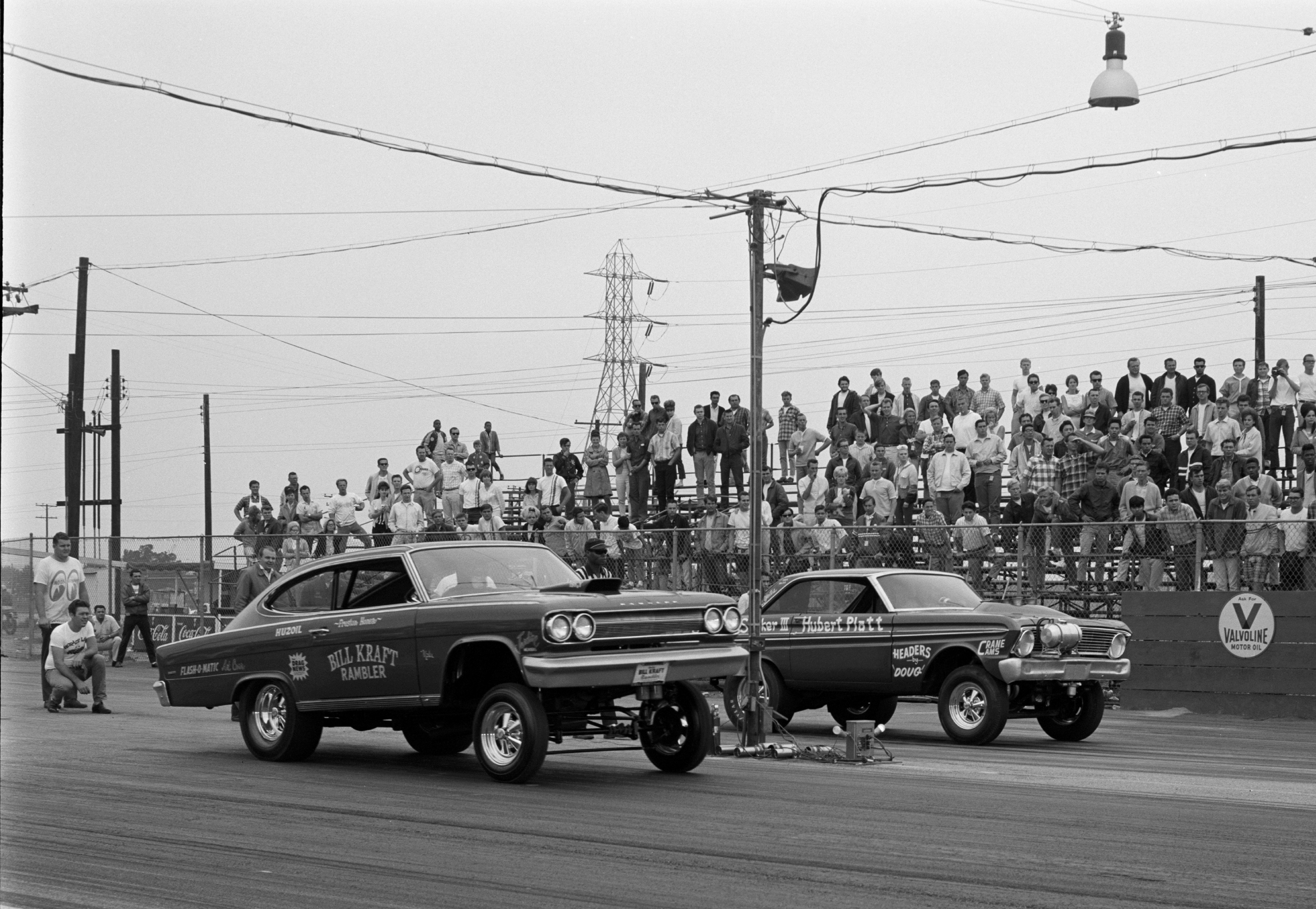 Lions Drag Strip shot from August 1965 getting a hole-shot on the Georgia Shaker Hubert Platt.