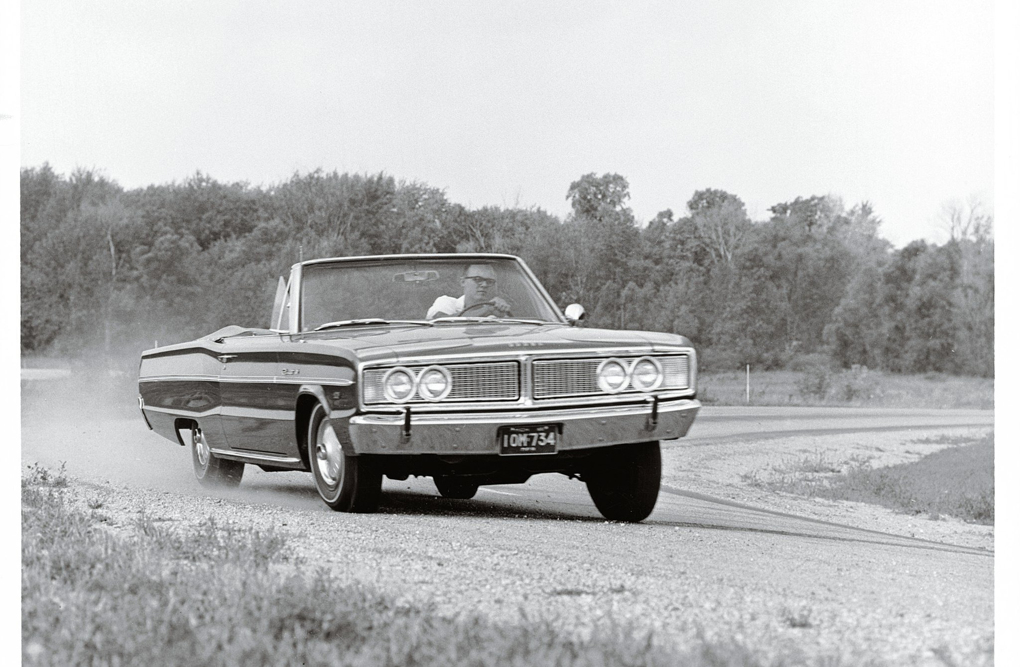 "The Hemi Coronet was not just a straight-line warrior. ""Coming 'round the bend at speed, super-bomb displayed a marked tendency to stay in the groove. In hard cornering car has mild understeer which became oversteer as more power was applied."" Sounds like fun."
