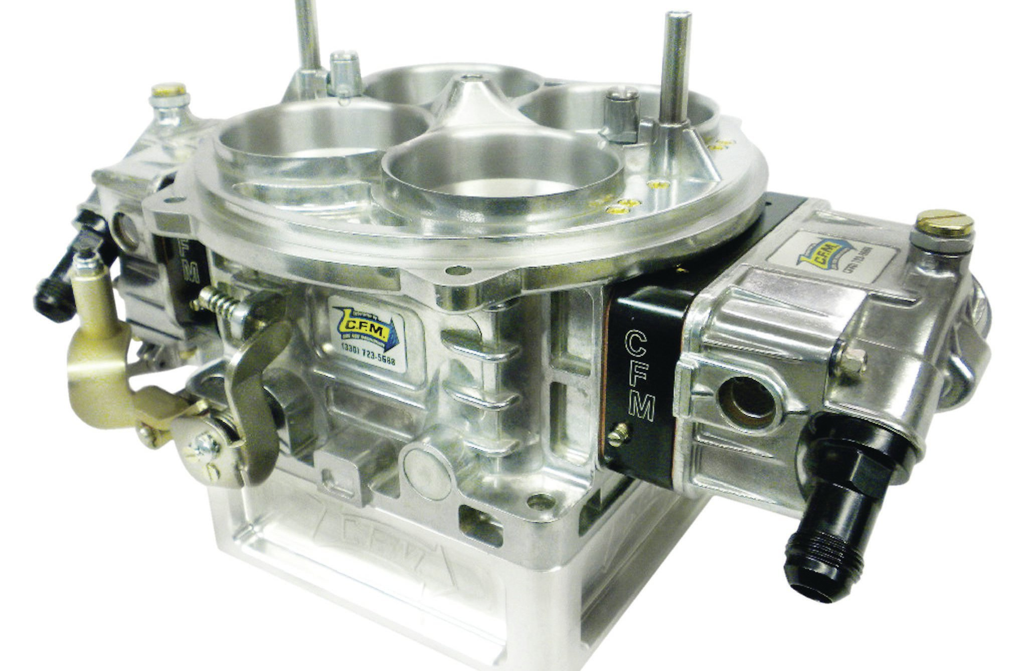 If you are going to feed a 609ci engine with one carb, it had better be a big one. This 1,650-cfm CFM Performance Carbs billet carburetor features 2.5-inch throttle blades and fits on a Dominator base. It uses 0.148-inch jets at all four corners.