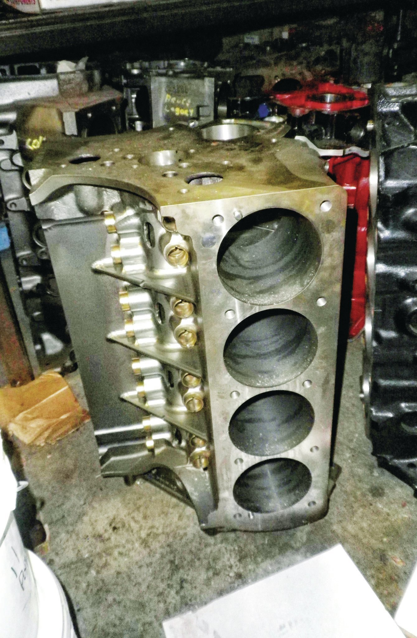 An AllPontiac.com IA II block was used in the build. The bore spacing has been moved from the stock 4.620 inches to a wider 4.685 inches. It is tight, but the move allows for a 4.500-inch bore, something that is not possible in a traditional Pontiac V8. The unmachined blocks are sent from AllPontiac.com to McCarty Racing for finishing to its specifications.