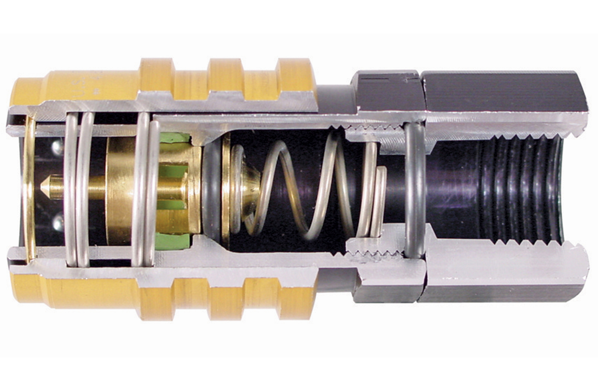 The detailed cutaway of the Jiffy-tite fitting shows the heart of the leak-free system.