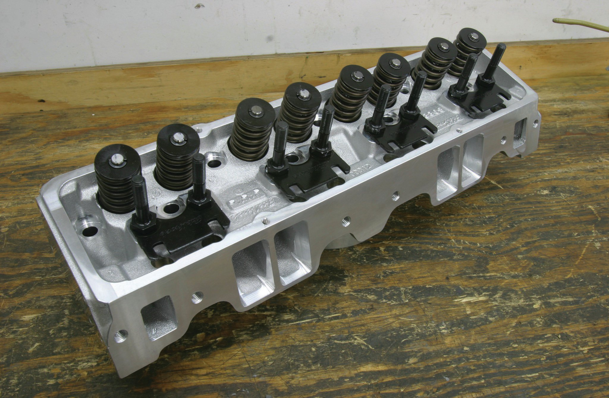 """The Edelbrock E-Street head is a good choice for a budget small-block. You can find more information on this head in our budget cylinder head test from the Sept. '12 issue. Just search for """"Car Craft budget cylinder head test"""" on CarCraft.com."""