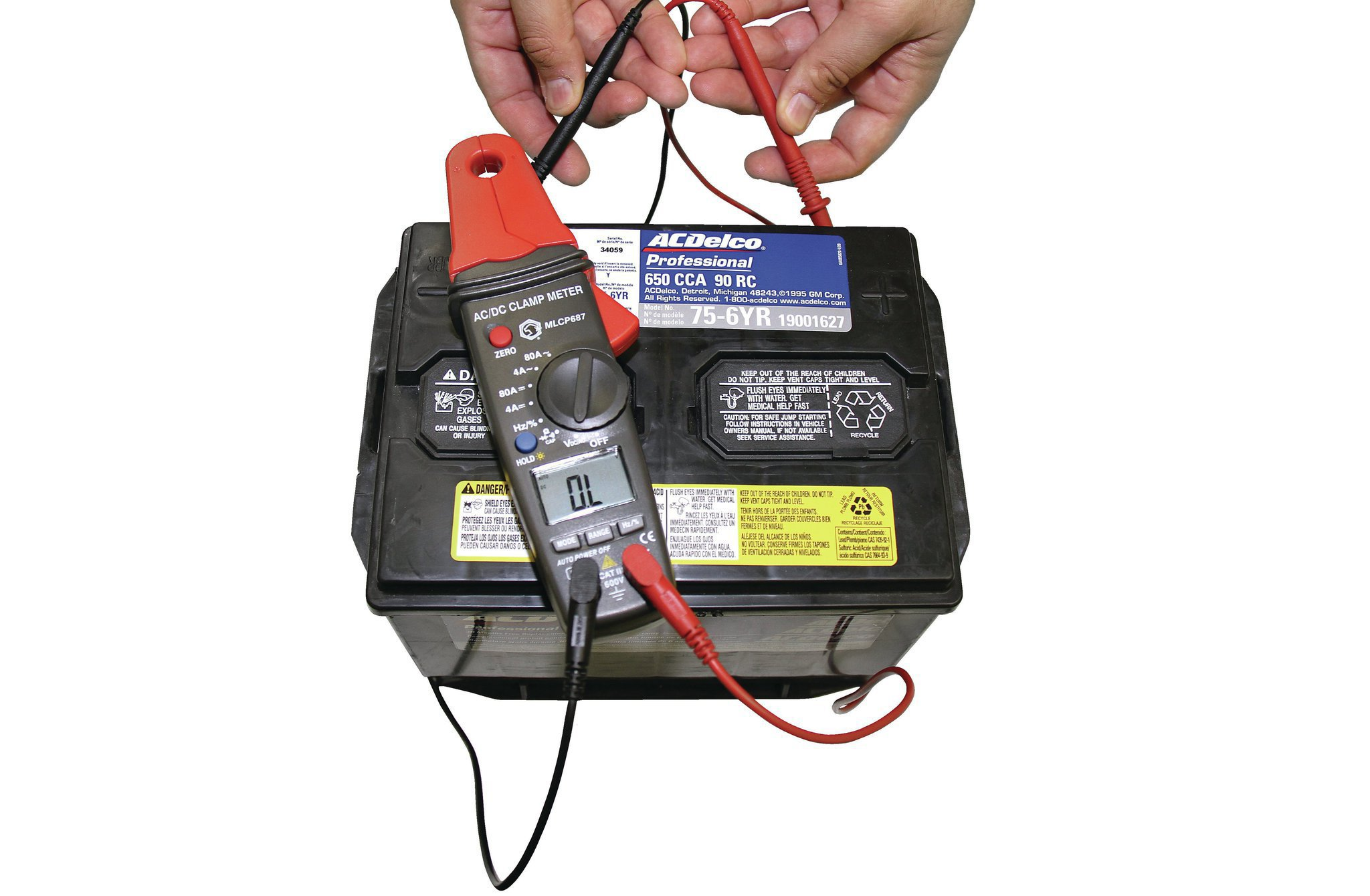 When your Pontiac has a parasitic drain, it can leave your battery so dead that its voltage won't register on a multimeter.
