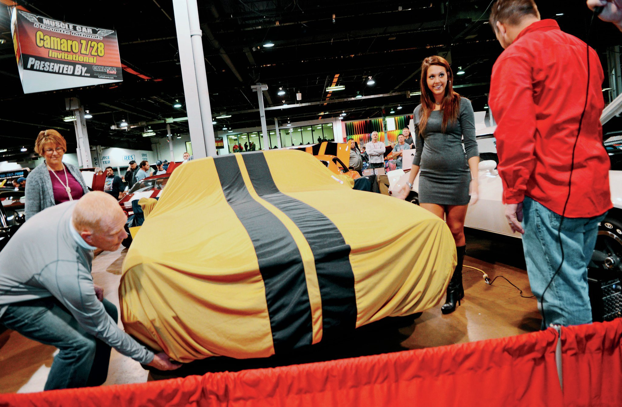 Several high-profile restorations are unveiled during the MCACN show, with a dramatic lifting of the car cover in front of an appreciative audience. Bernie's Z28 was among those so honored at MCACN 2013.