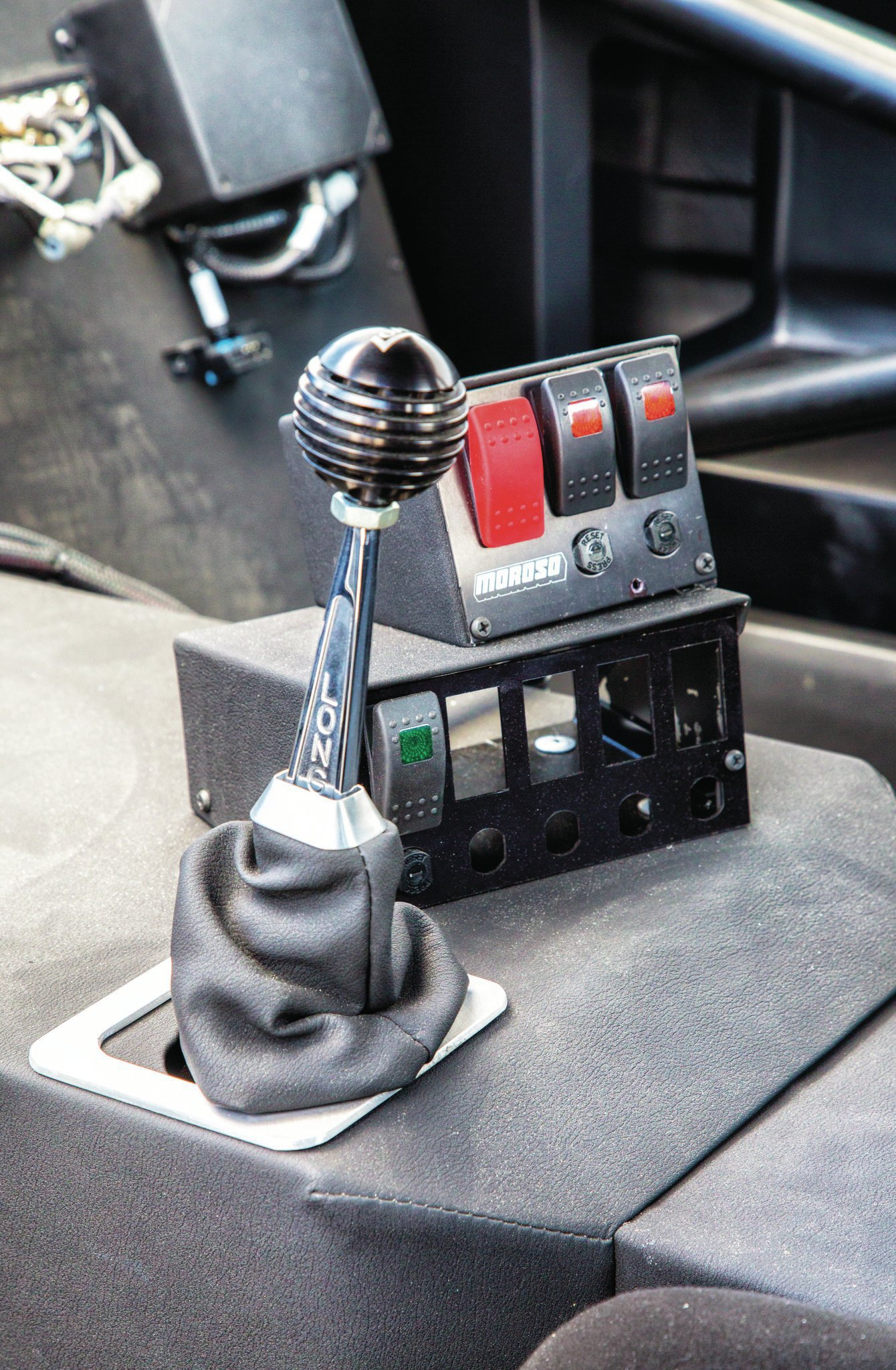 A Long shifter connects the driver to a five-speed G-Force trans.