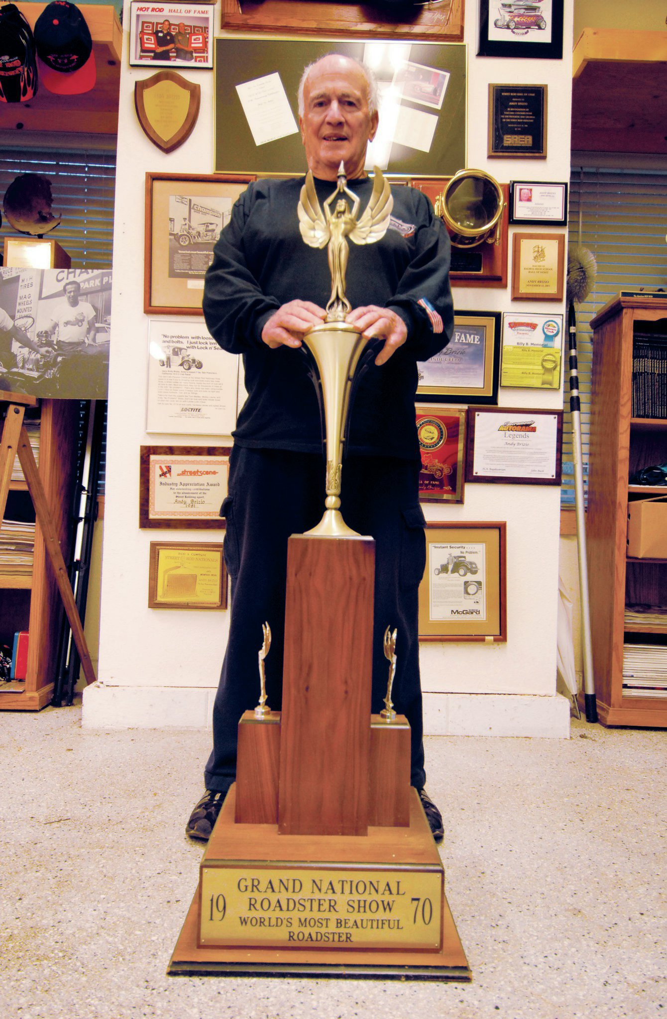 """""""After our six months were up with the big AMBR trophy, 'Baggy' Bagdasarian surprised me with one that Sue and I could keep. As far as I know, it's the only time a promoter ever did that."""""""