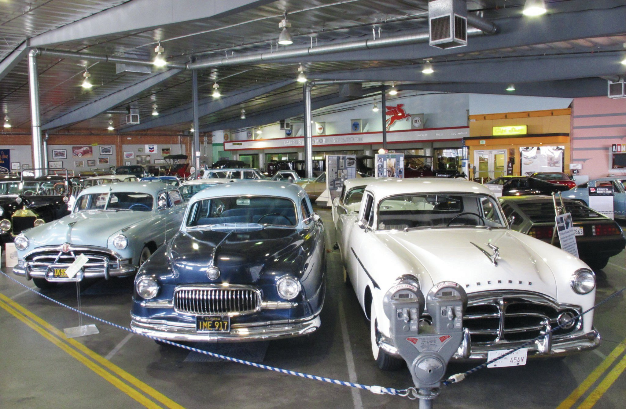 Many of the cars on display at the ADM are special interest cars from the '50s. But the eagle-eyed among you can spot the diversity on display here; bookending these bruisers are a DeLorean on the right and a Model T on the left.