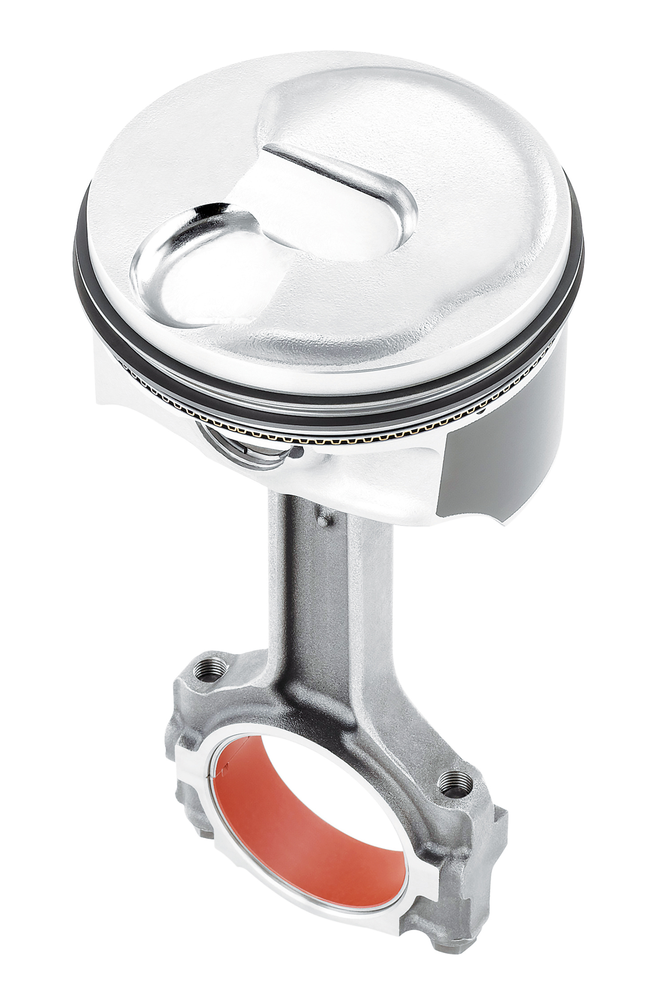 This piston top is likely to shape the future of combustion. This is a direct-injection Chevrolet LT1 engine piston that appears to create a pre-chamber for the fuel to initiate combustion.