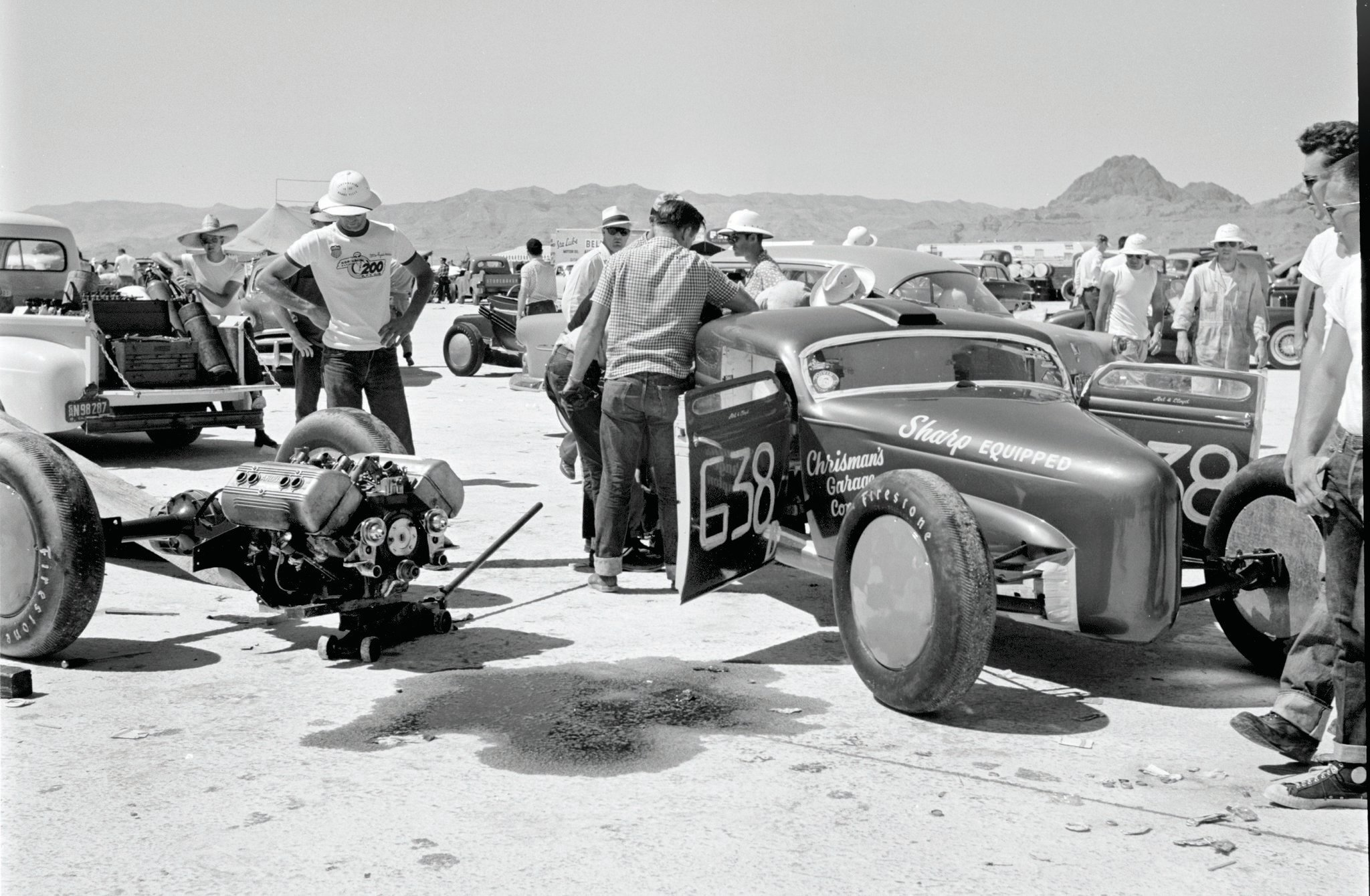 The Chrisman competition coupe: 160.178 mph using Ardun heads on a Merc flathead.