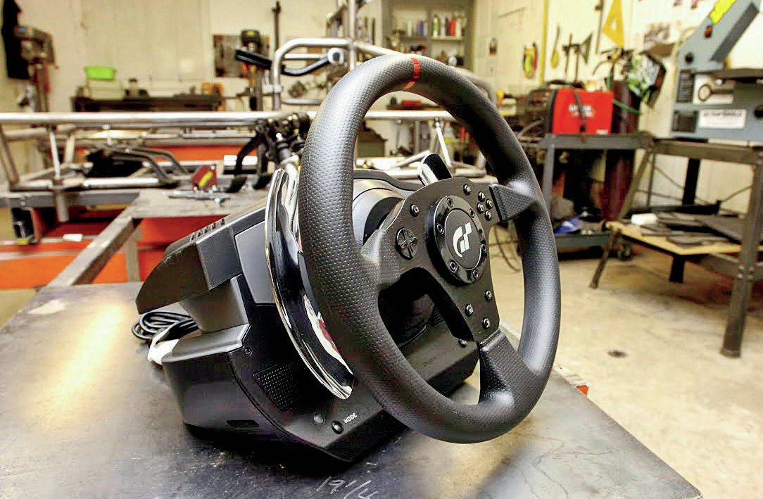 Thrustmaster supplied us with one of its T500RS force feedback steering wheels. This will offer extremely accurate steering feel for the driver.
