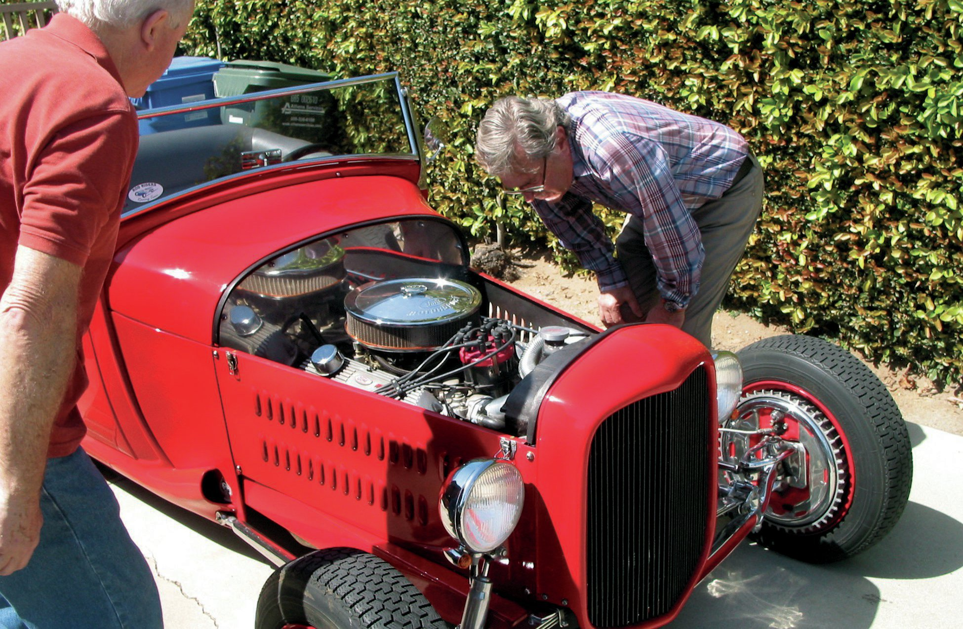 David C. Martin, March 18, 2014, seeing the car for the first time in 53 years!