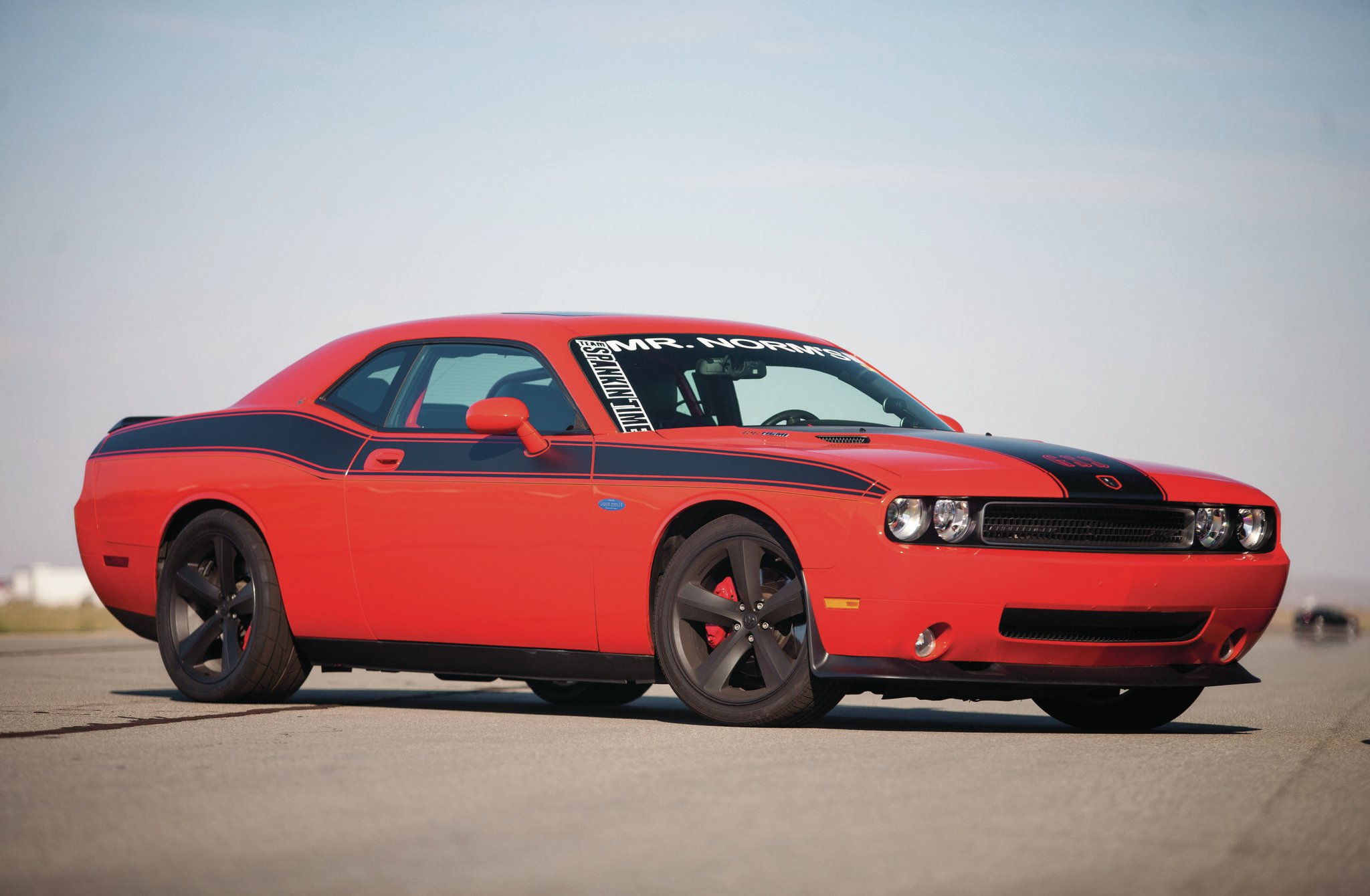 Late-model Challengers are popular at the Mojave Mile. At any given event, it seems you'll find at least a couple that are driven to the event, run in the neighborhood of 200 mph, and drive home.