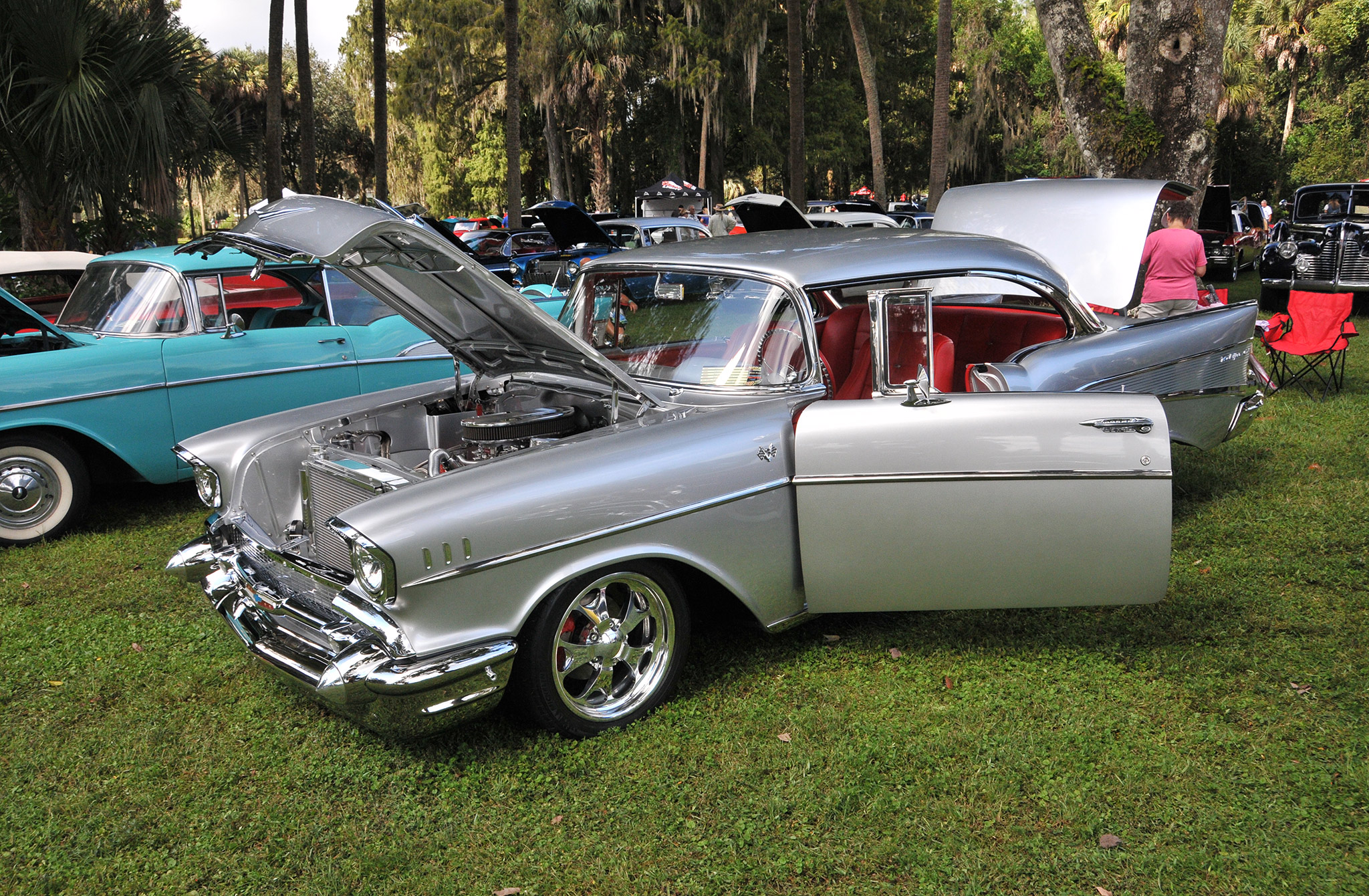 A crowd favorite was this highly detailed '57 Chevy of Joe and Connie Tuckey.