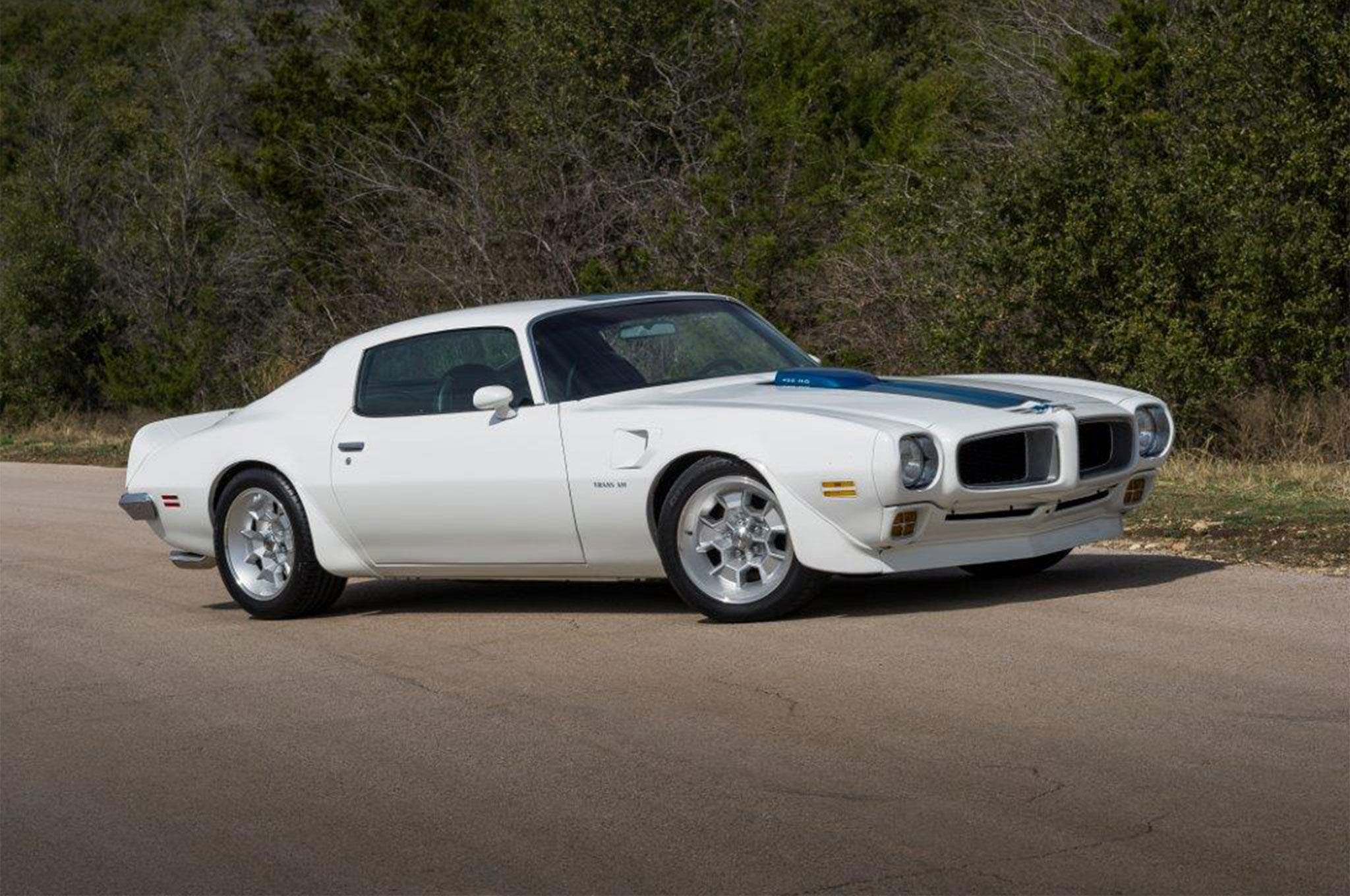 With 54,000 miles on its odometer, the Trans Am's body was rust-free and simply in need of a fresh coat of paint to meet SW's stringent standards. Its suspension was modified to lower the stance by 2 to 3 inches.