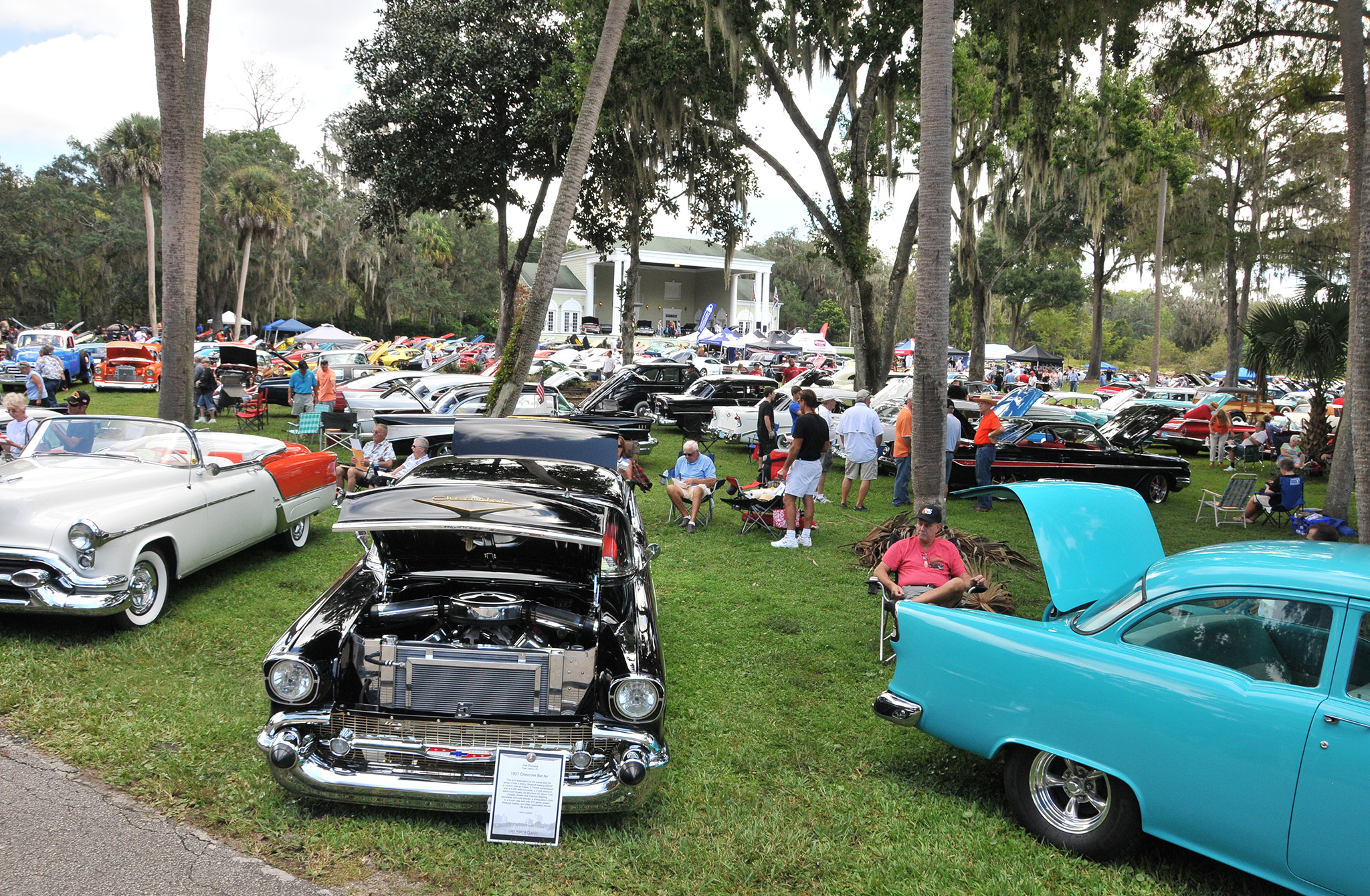 More than 450 GM vehicles were displayed throughout the park.