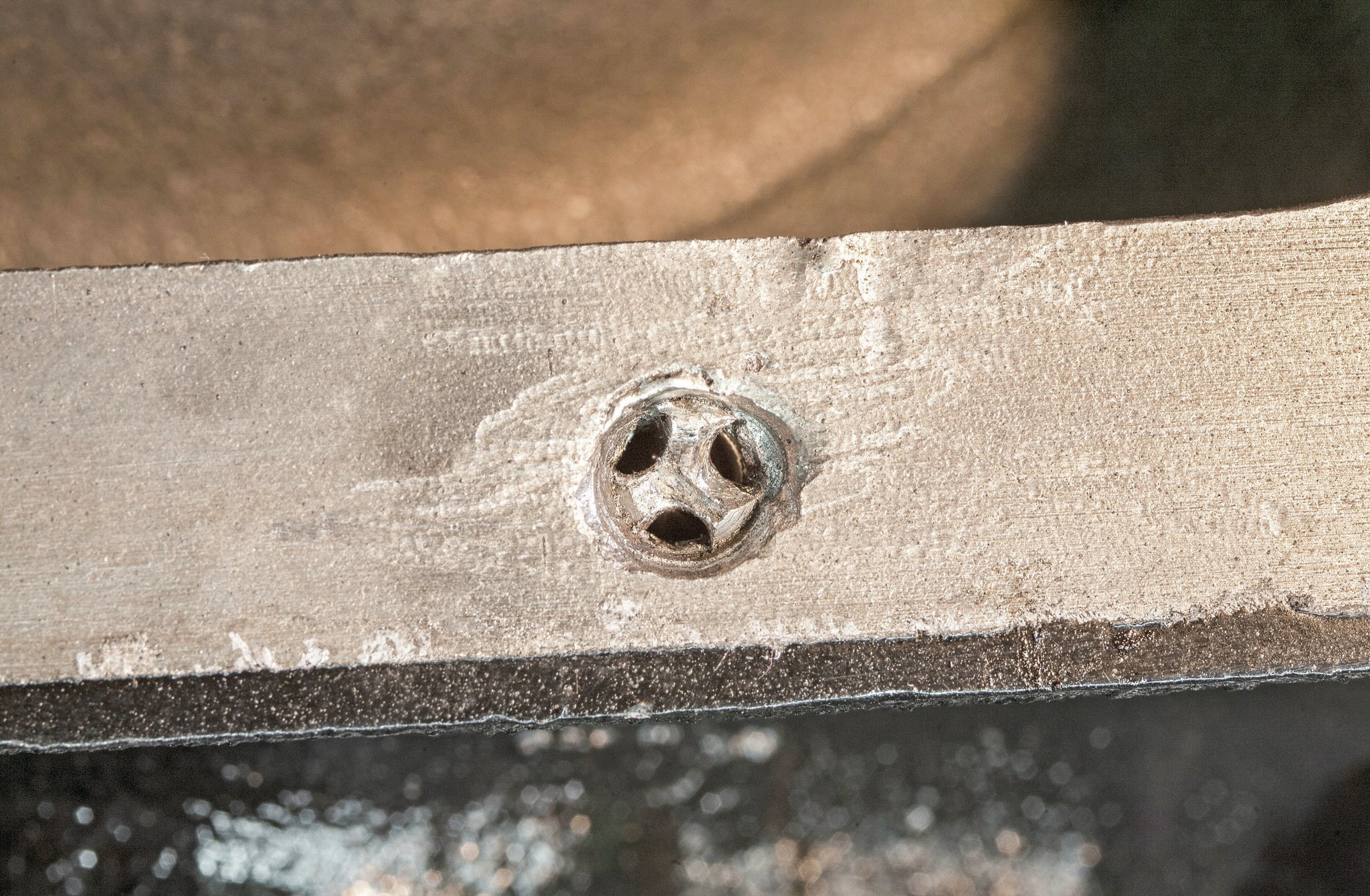 After a thread tap broke off in an oil-pan-rail bolt hole on Noah's 289 block, the usual methods were used in an attempt to remove it. They only made more of a mess. Time to send the block out to the professionals at Jim's Tap Extracting.