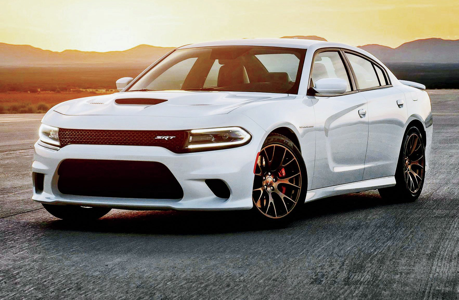 Introducing the world's most powerful regular production four-door sedan: The '15 Dodge SRT Hellcat Charger. Its top speed of 204 mph is only limited by aerodynamics and gearing. The 0-100-0 benchmark is accomplished in under 13 seconds. Price on this e-ticket ride will land right around $63,000.