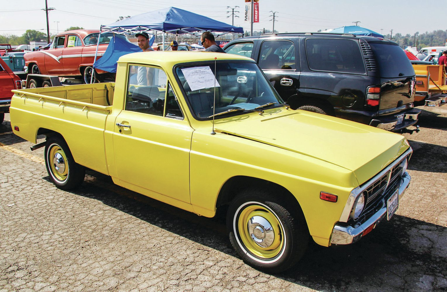 A Ford Courier was a Mazda with a grille designed to reflect the look of a 1970s fullsize F-150. A hot rodder turned up his nose when they were new and cost $3,000. Today, he'll pay $6,500 for this prime example.