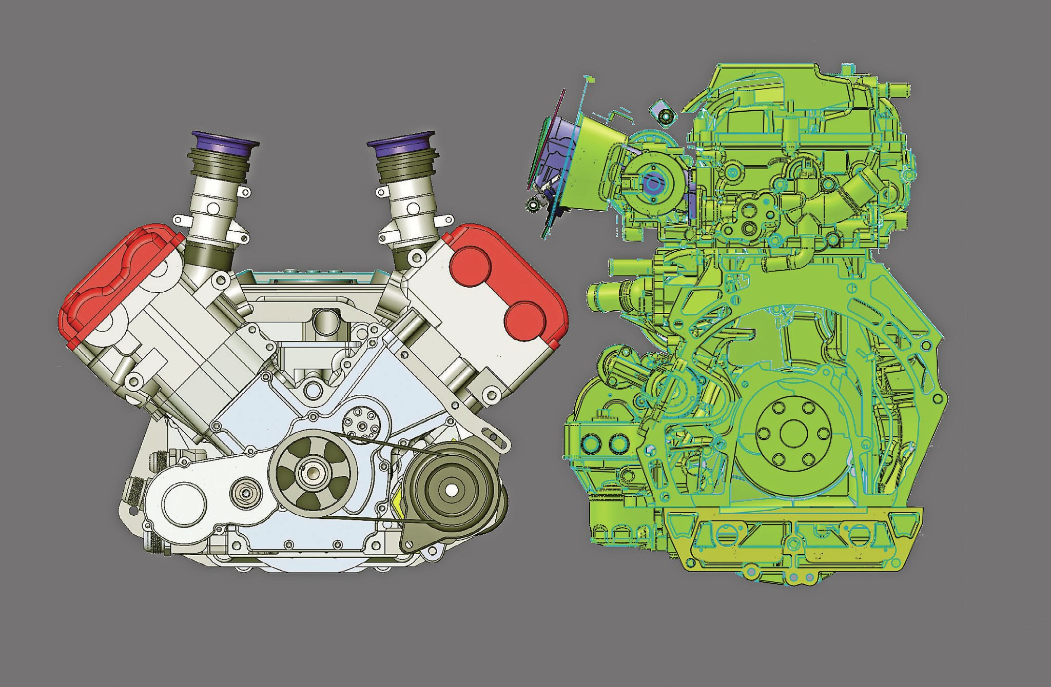 Currently under development by Hartley is the Bolt 8 V8, a new robust design for twin-turbo applications. It will displace 2.8 L and should make at least 650 hp. These engines could be available by early 2015. Note its compact dimensions compared to a 2.0L Ford Duratec L4.