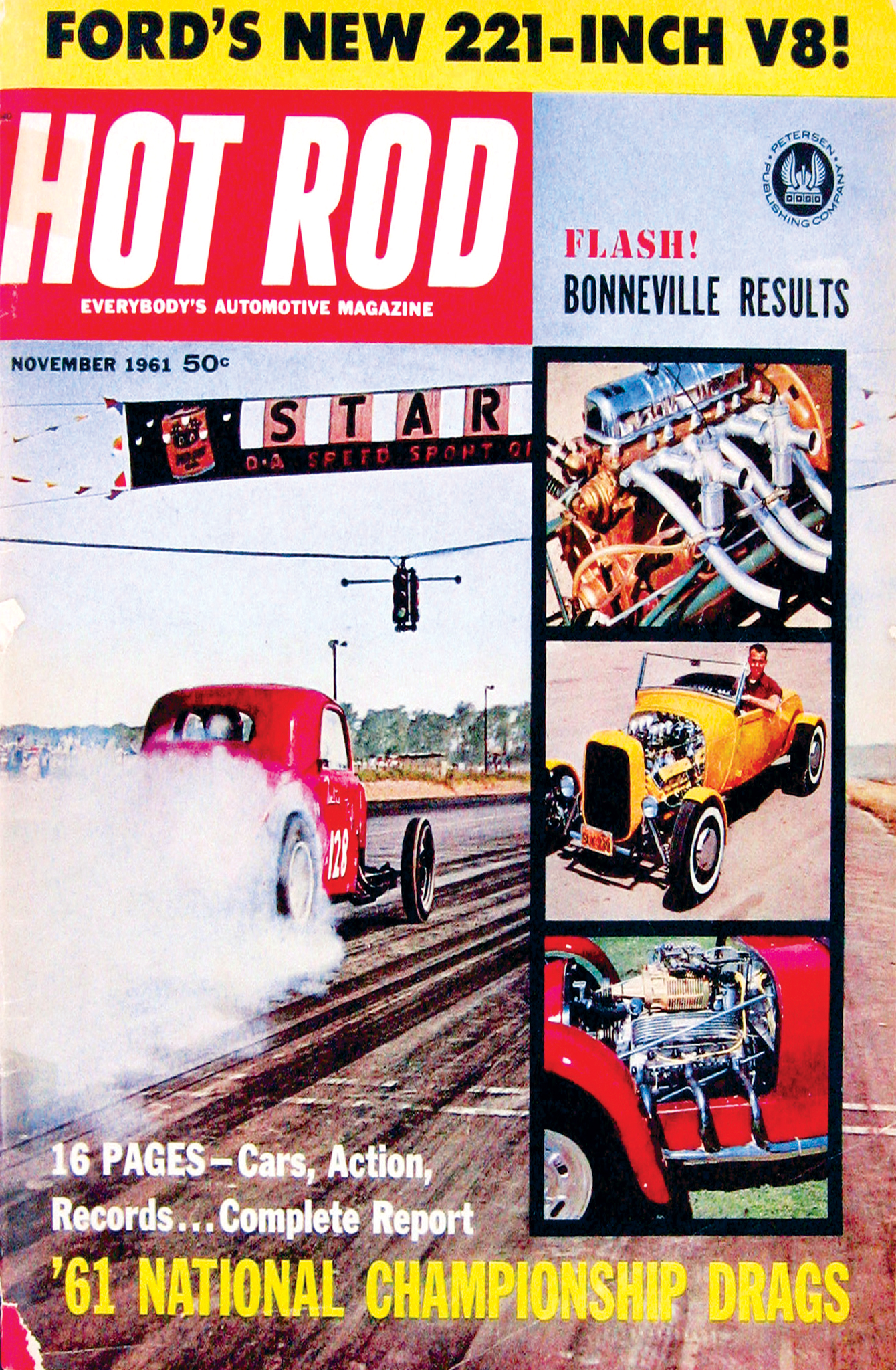 Ken's roadster appeared on a very busy HRM cover in November 1961.