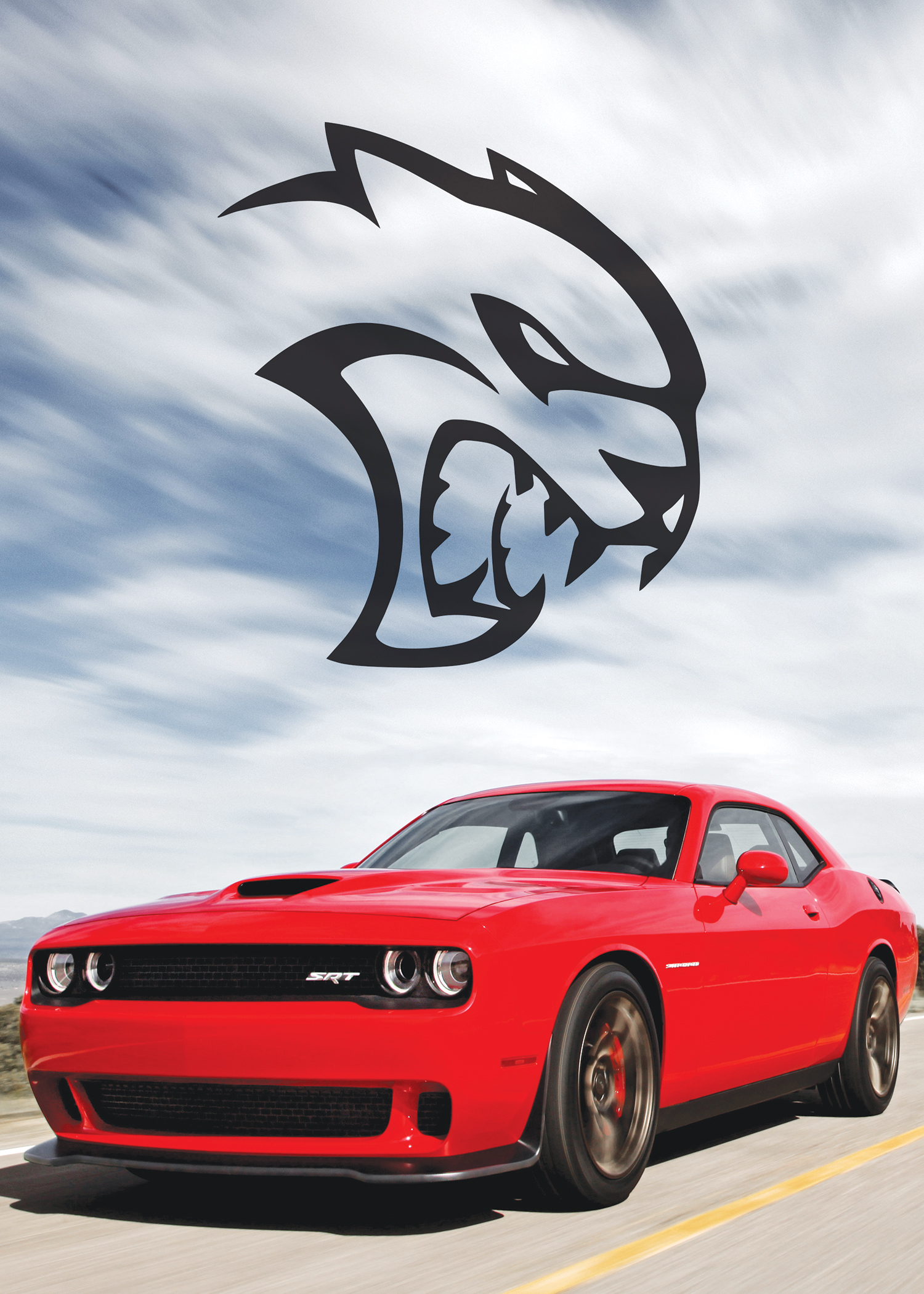 Will the Hellcat-powered Challenger become the first Mopar to hit 200 mph since the 426 Hemi–powered Charger Daytona? It's certainly a possibility. Gotta dig that Hellcat logo.