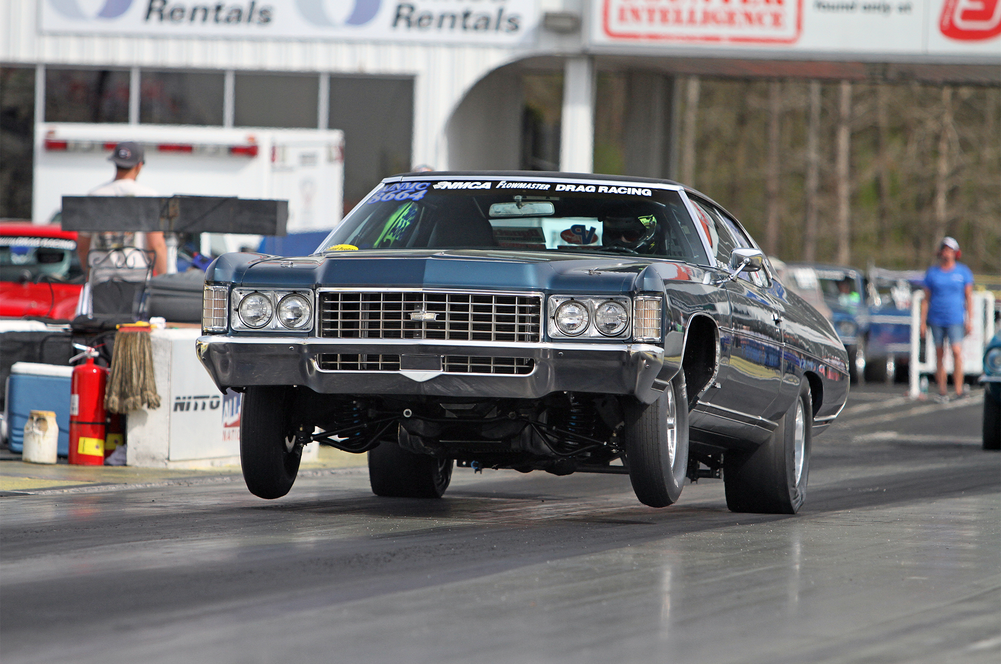 The most successful NMCA racer, in round wins, is Andy Warren and his 1971 Chevy Caprice. He will be shifting categories in 2015, leaving the index-style Nostalgia Muscle Car class and making his way into CP Stock. Though, sadly, his Caprice won't be making the journey into the heads-up world. A tThird-gen F-body is slated to go under the knife this winter for next season's race car.