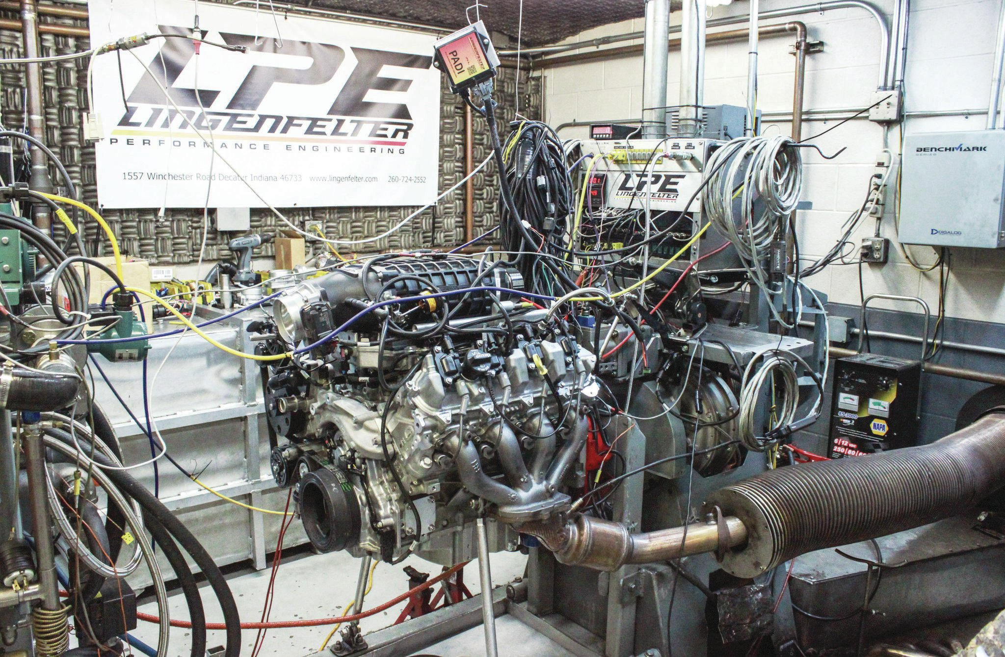 Copeland tells us Lingenfelter engineers have spent hundreds of hours on the dyno testing every practical option for its DI packages and is currently developing the next phase of fueling that will involve custom ground camshafts paired with higher-flow direct-injection pumps.