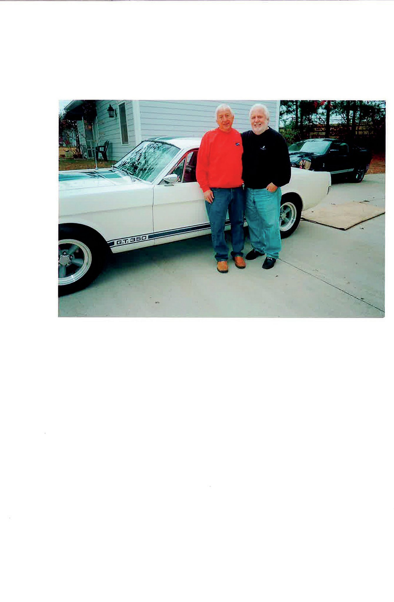 That's current owner Joe Carter on the left. He bought this car's engine and trans in 1974, then the rest of the Shelby in 1983. Marti Kennedy on the right was its original owner in 1966. At the time, 16-year-old Marti had no idea how special the car was nor how special it would become.