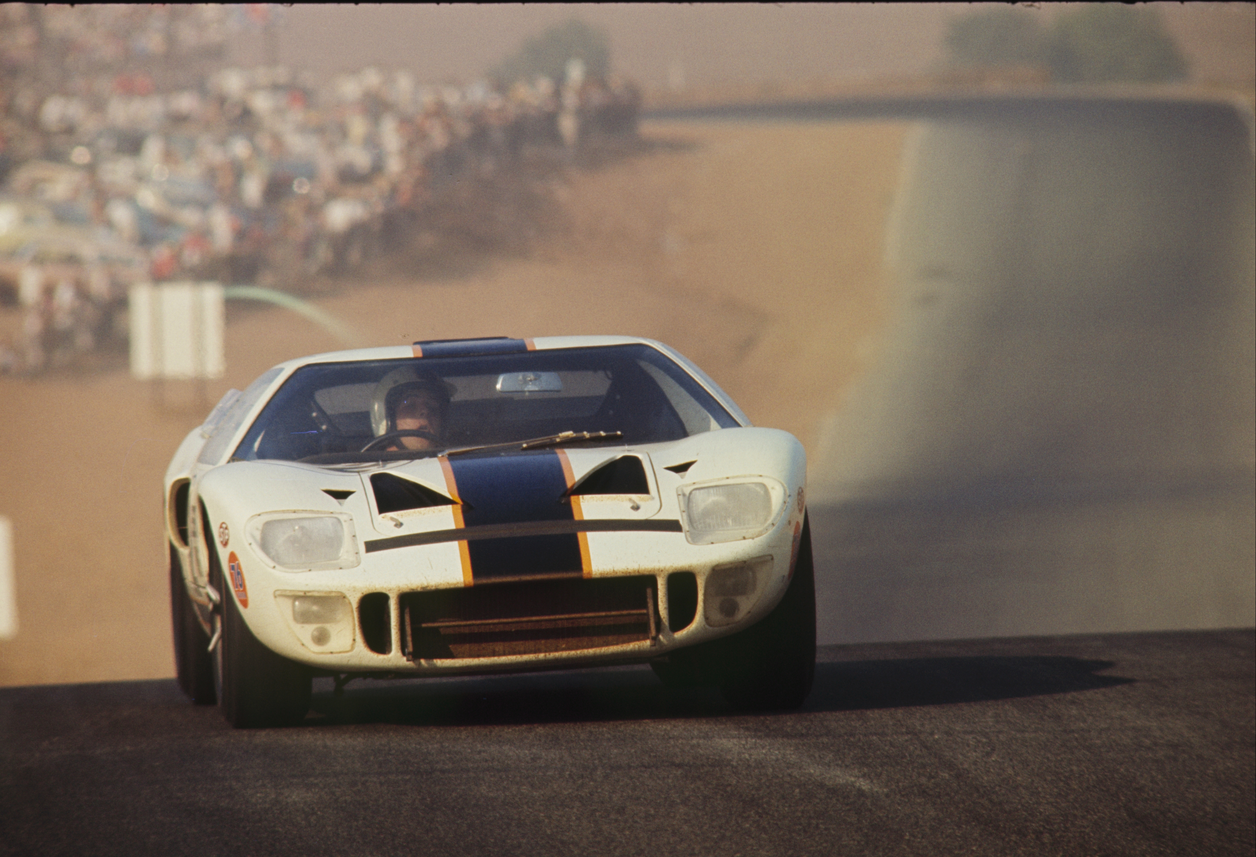 A Mark I GT40 from late-1965 driven by Skip Scott for Essex Wire. A car similar to this snagged the GT40's first major victory at the 24 Hours of Daytona in 1965 with Ken Miles and Lloyd Ruby driving.