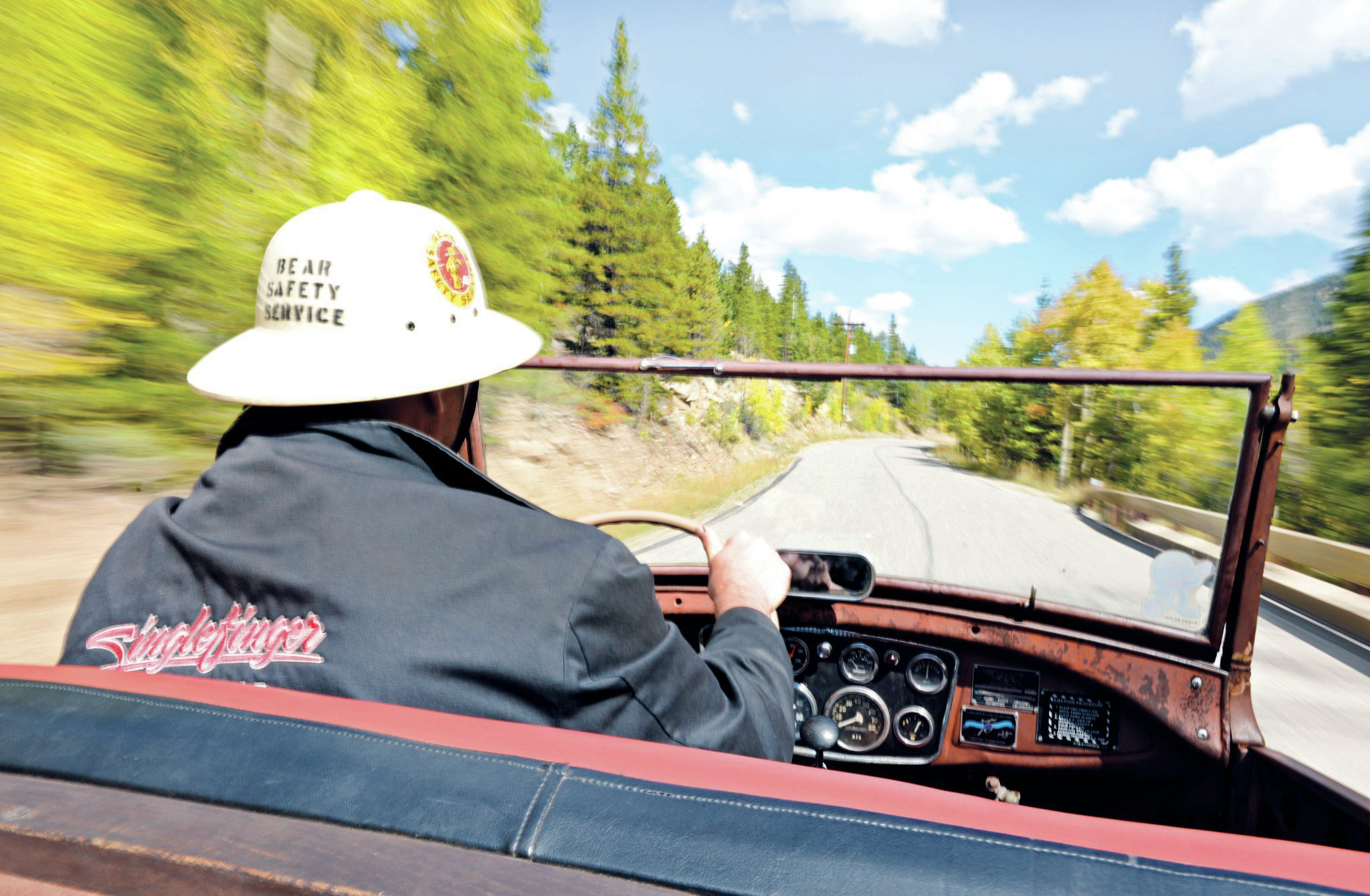 Larry Filipczak puts his '32 roadster through the paces, running up the steep incline that makes the HRHC such an exciting event. You're not just chasing time, you're battling gravity as well.
