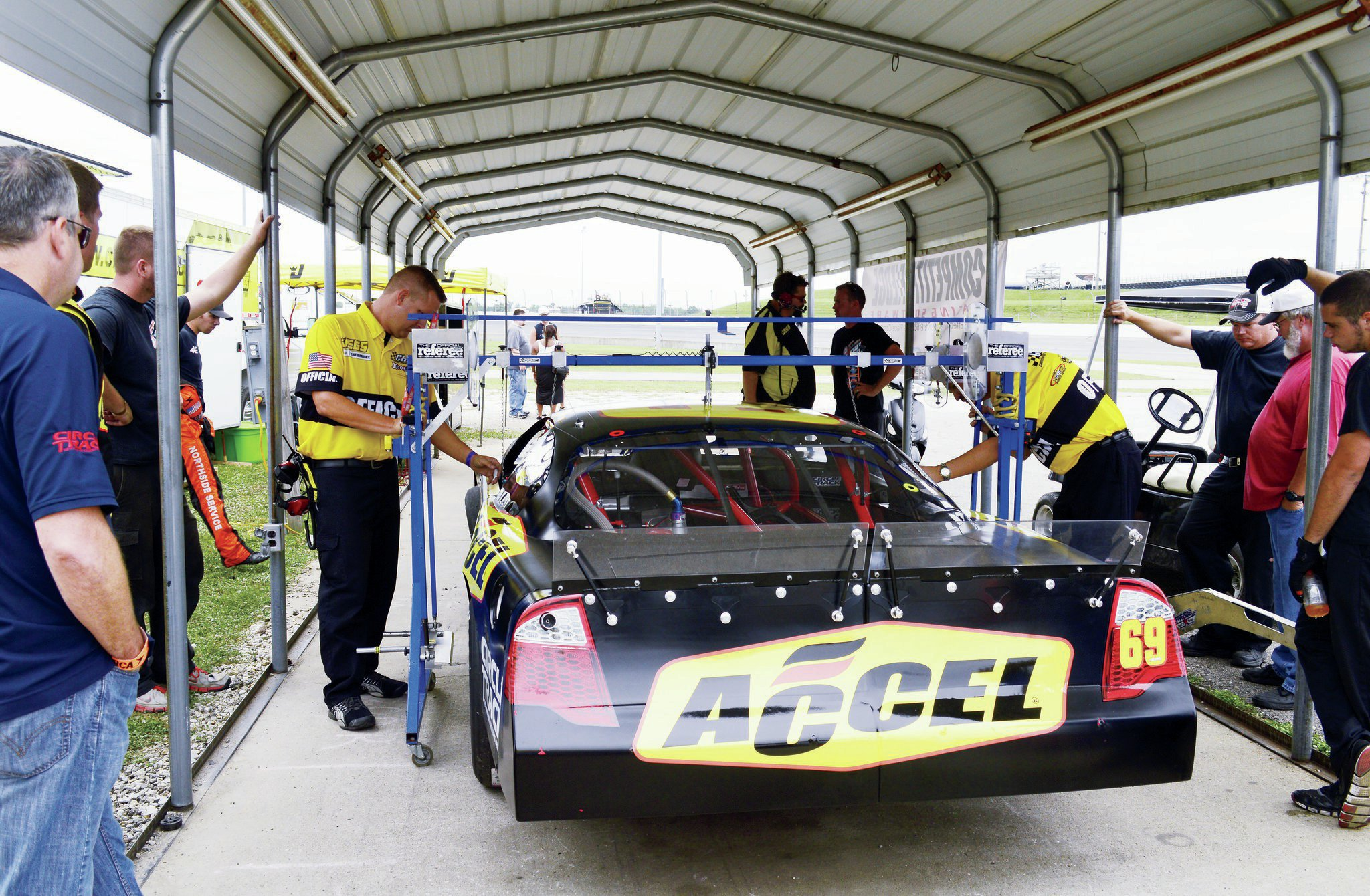 The officials of the ARCA/CRA Super Series do an admirable job of keeping the playing field level. Fortunately for us, we rolled through tech without a problem.