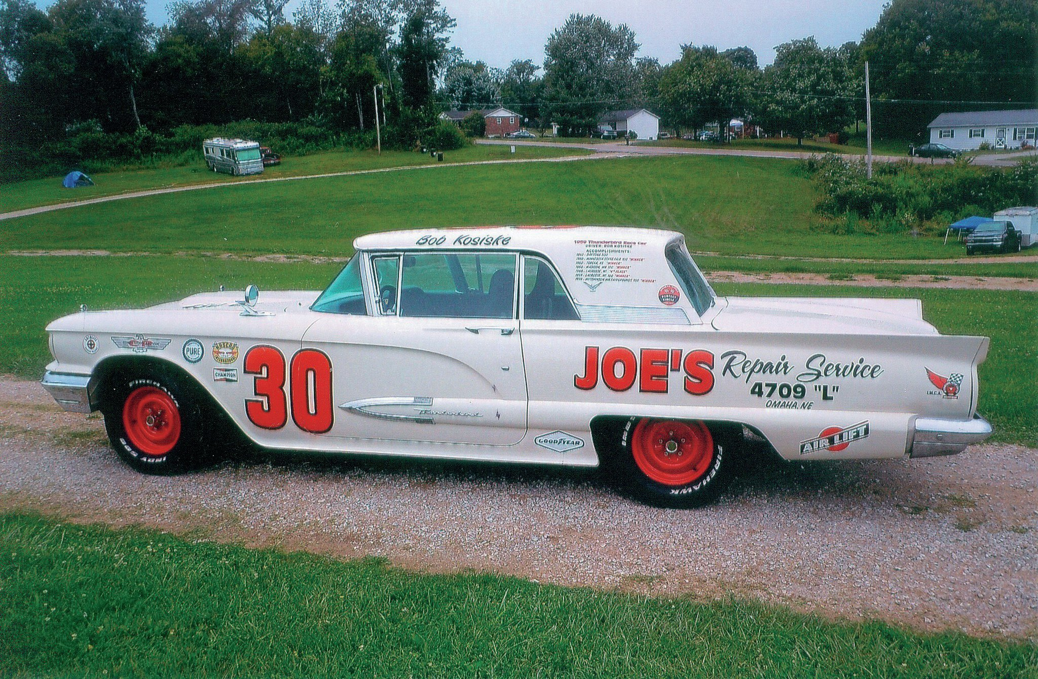 As far as race cars go, this T-bird was considered a luxury model, but Bob Kosiski said that it was a pretty good competitor.