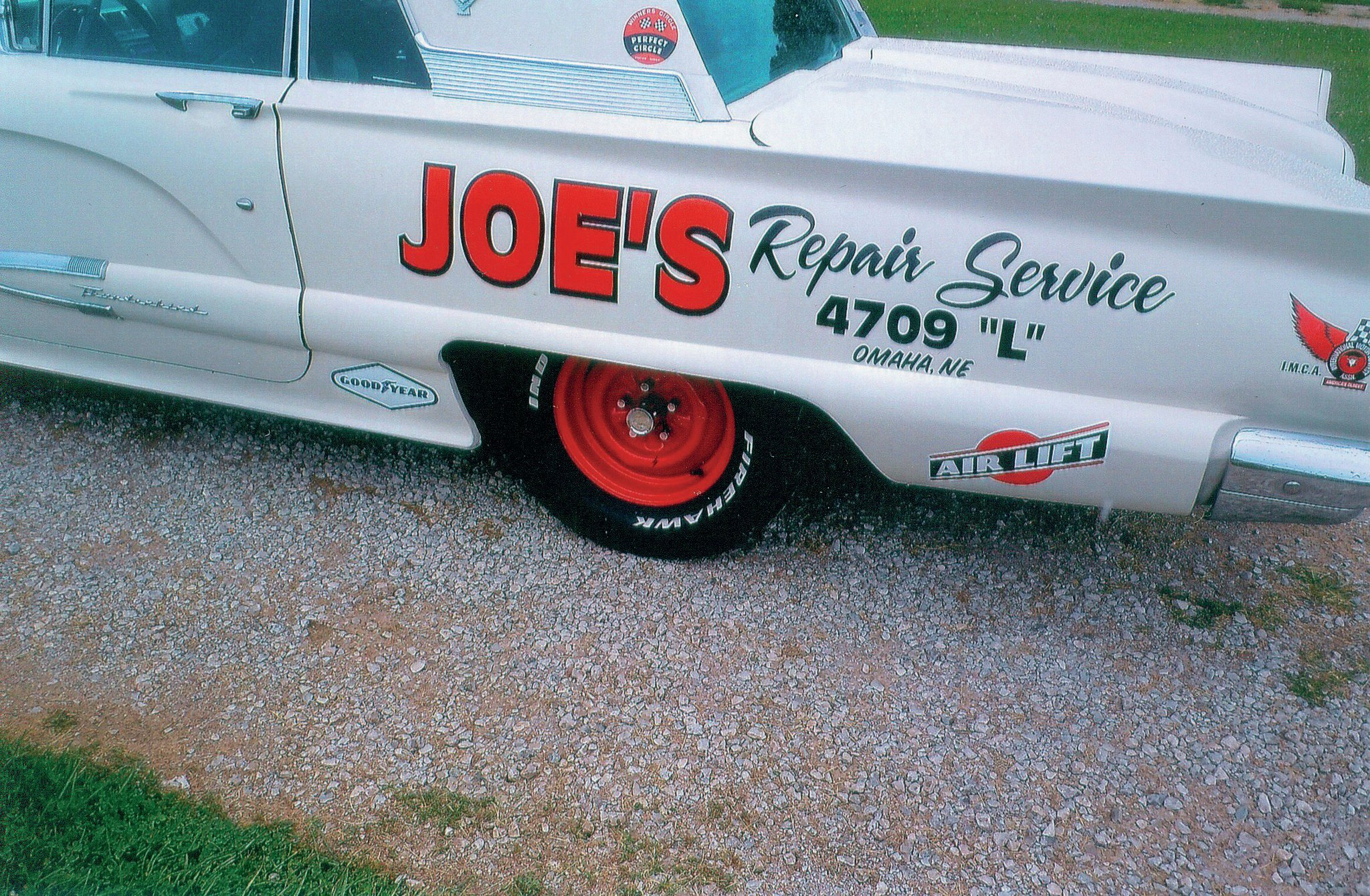 Joe's Repair Service was a Kosiski family business run by Bob's dad, who got the family into dirt track racing as a car owner of modified coupes.