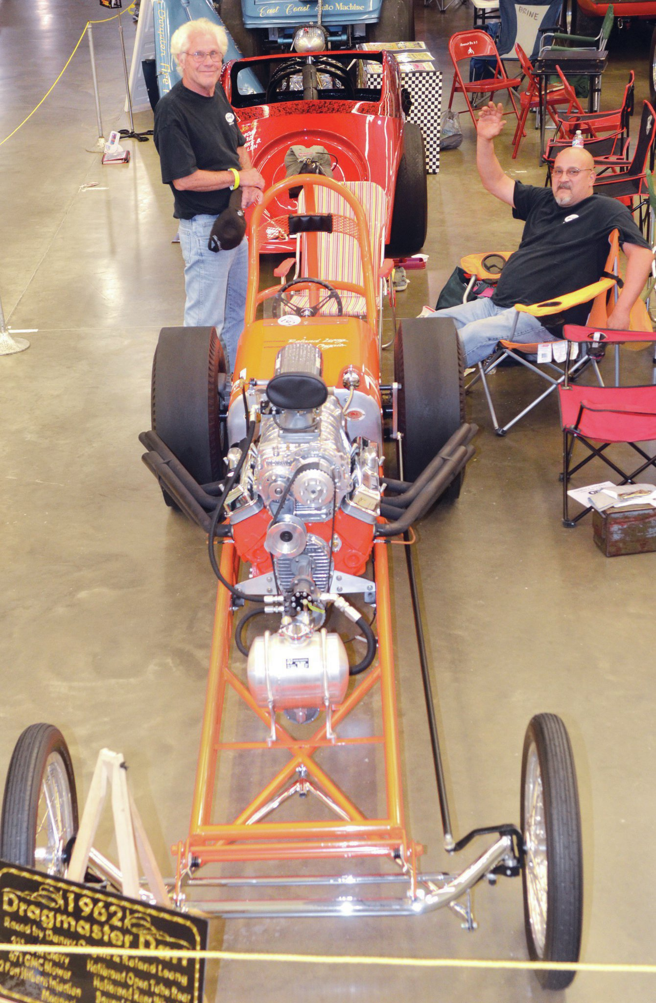 York always has a number of vintage dragsters on display. Among the coolest this year was this original '62 Dragmaster that was once raced by a couple of guys from the islands named Roland Leong and Danny Ongais. It was on hand courtesy of Frank Morawski of Bel Air, Maryland.