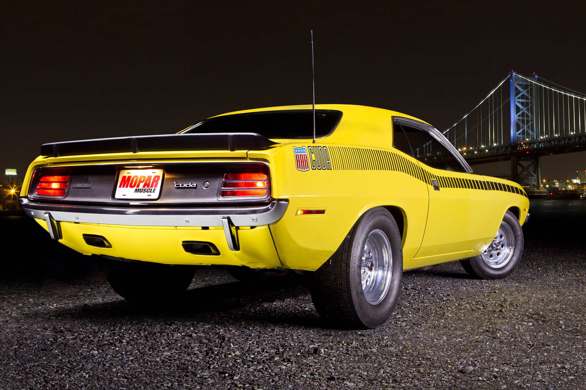Don't look for the AAR's unique side-exit dual exhaust. Bill prefers the sound of full-length duals and even sourced a 'Cuda rear valance to accept the twin rectangular outlets.