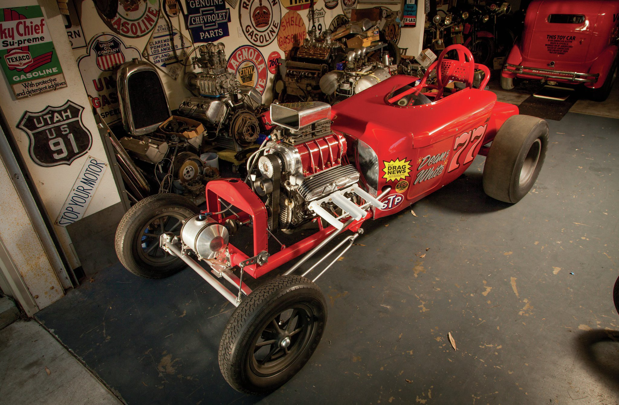 The completed tribute now joins Jim Lattin's incredible collection of vintage hot rods and race cars.