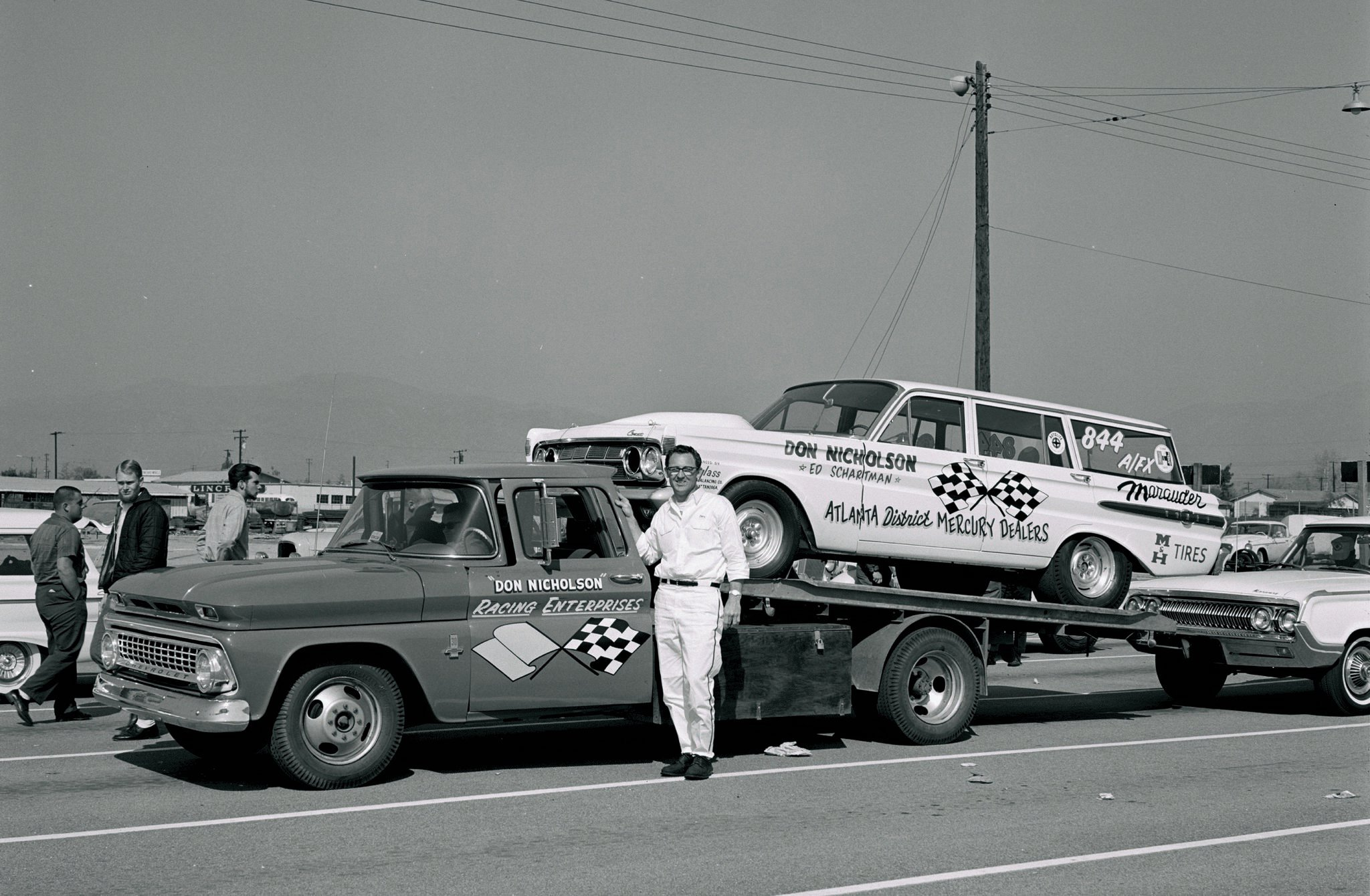 After GM pulled the plug on motorsports sponsorships, the only lingering evidence of Don Nicholson's dominating Chevrolet relationship was the ramp truck hauling his Ugly Duckling wagon to the Winternationals. Pomona's top 1961-'62 Stock Eliminator racer set low e.t. for A/FXers at 11.48 and lowered the national record to 11.60 before suffering a holeshot upset against Ronnie Sox's Caliente in the all-Mercury Factory Stock Eliminator final, 11.49-11.47.