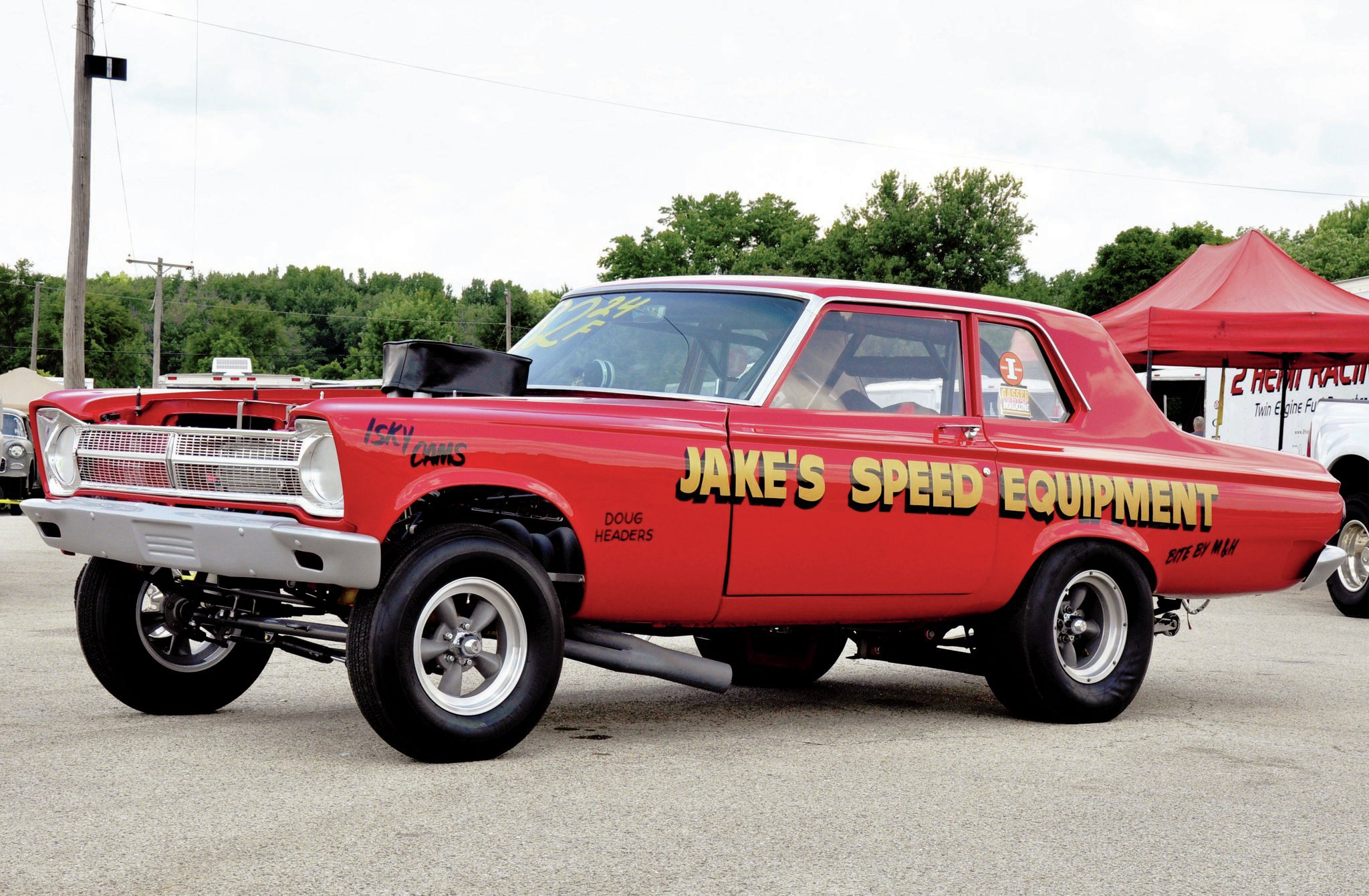 This AWB Mopar started life as a '65 A990 Hemi car originally owned by legendary race team Candies and Hughes. Jim Paulsen bought the car in 1991 in Union Grove, Wisconsin. Jim restored the car in 1992 and had none other than Dick Landy build the Hilborn-alcohol-injected 426 Hemi engine. Jim just pulled this incredible AWB Plymouth out for Meltdown Drags after a 10-year hibernation.