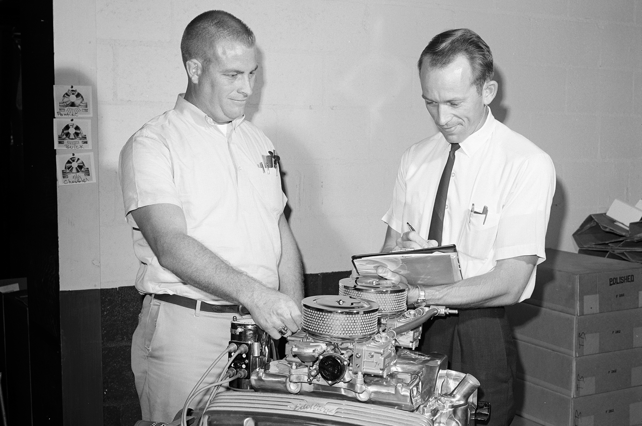 McFarland's 50-year relationship with Vic Edelbrock Jr. dates back to this initial visit by HRM's cub reporter in November 1965.