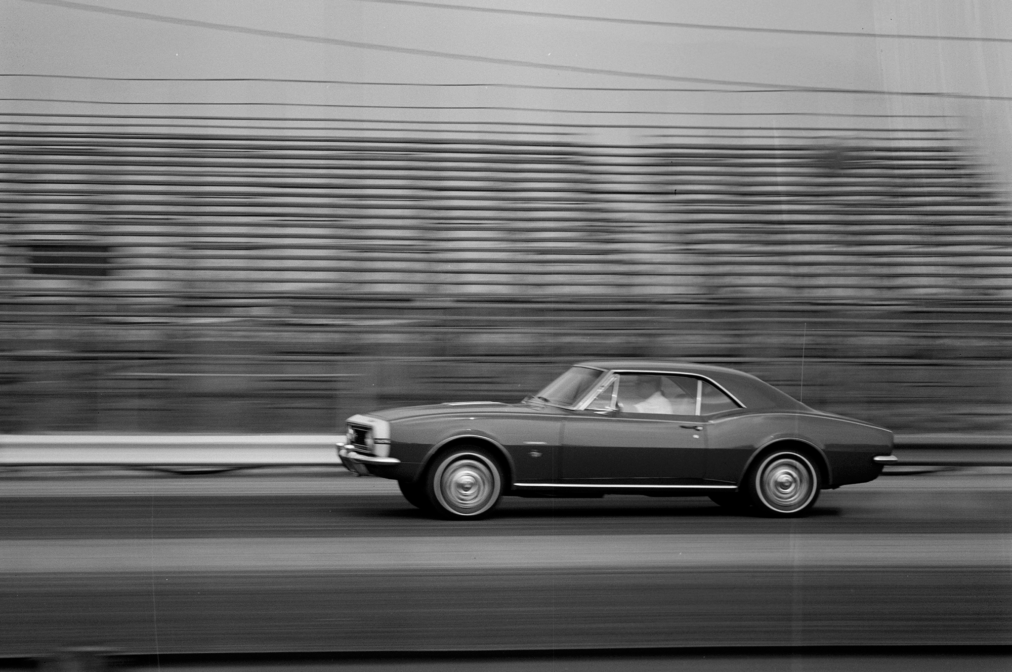 Four months before Chevrolet's ponycar arrived in dealer showrooms, Motor Trend and HOT ROD were testing the first Camaro in California. The car and its future owner are pictured here in June 1966.