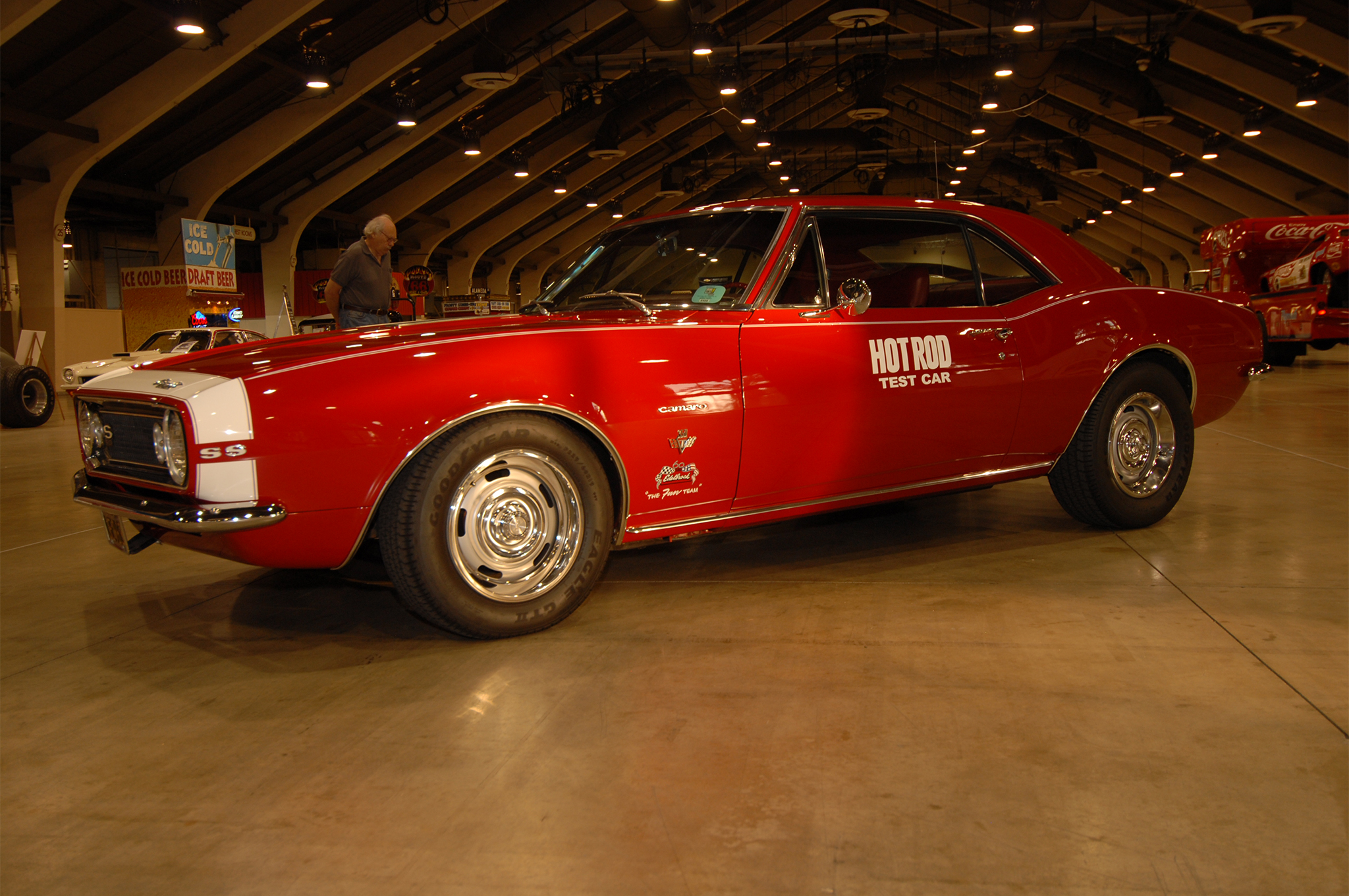 Twenty years ago, McFarland sold HRM's historic test car to Vic Edelbrock—with just 17,000 miles on the clock. Appropriately, Vic displayed the first SS350 ever built at the HOT ROD Homecoming in 2013.